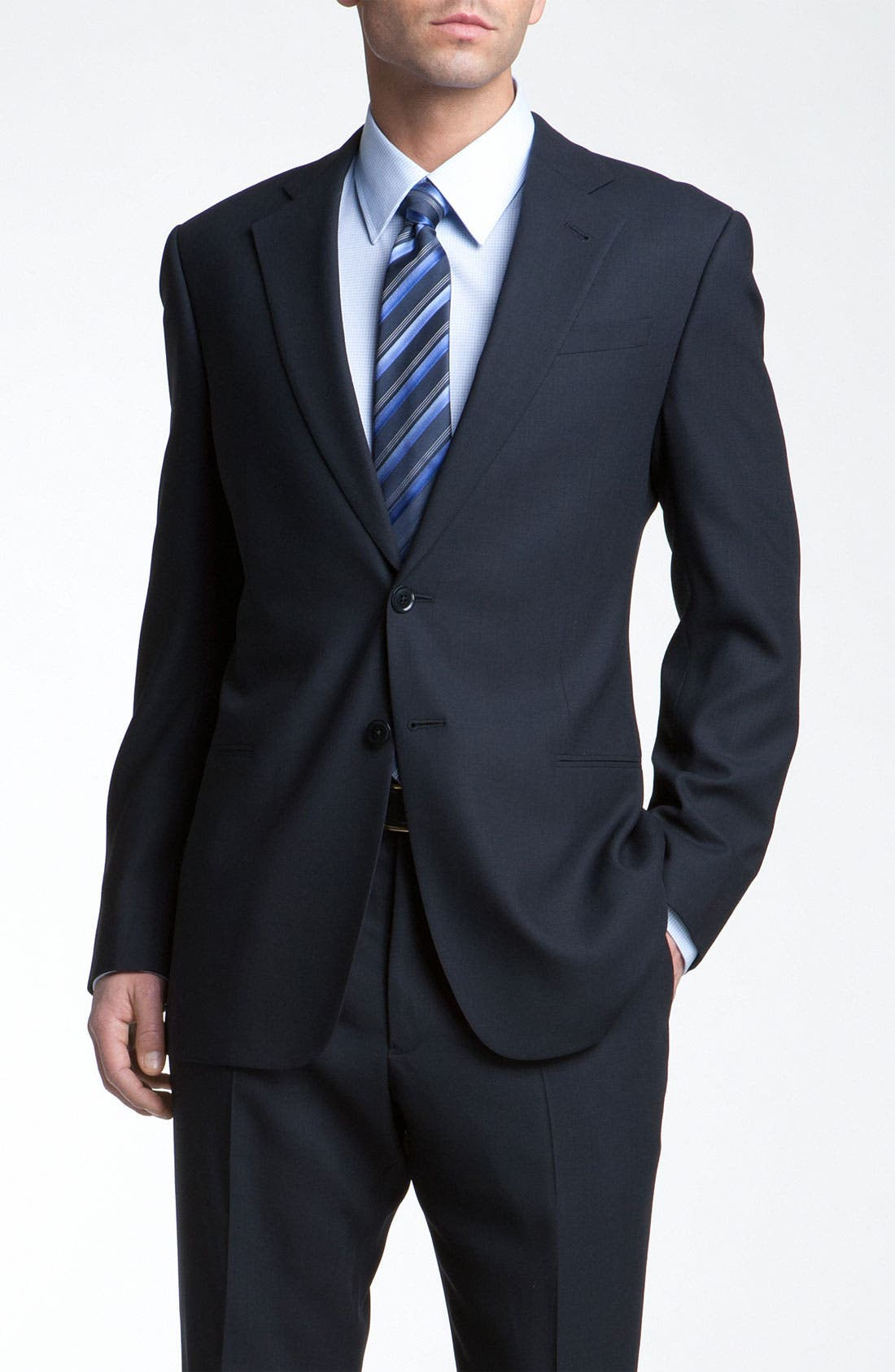 Main Image - Armani Collezioni Trim Fit Wool Suit