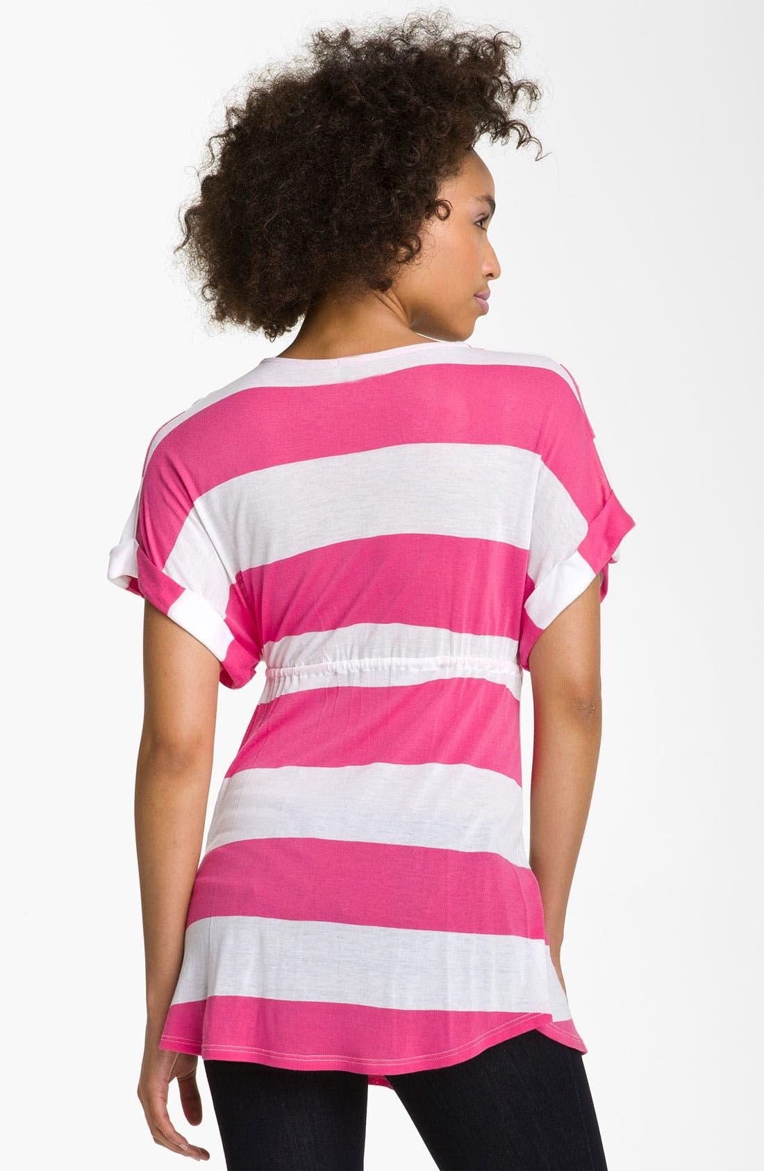 Alternate Image 2  - Ella Moss 'Vida Stripe' Drawstring Dolman Top
