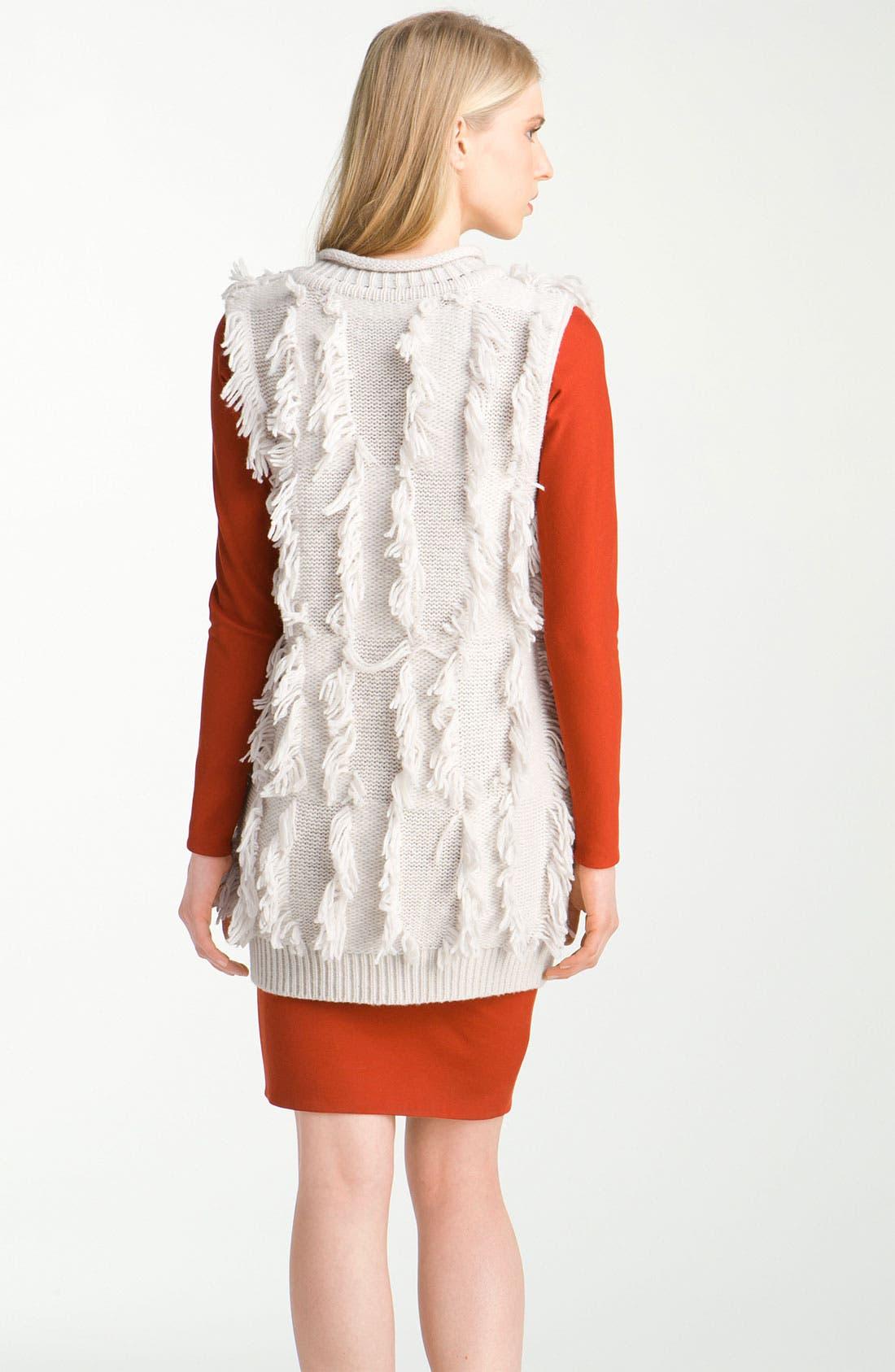 Alternate Image 2  - 3.1 Phillip Lim Fringe Intarsia Tunic Sweater