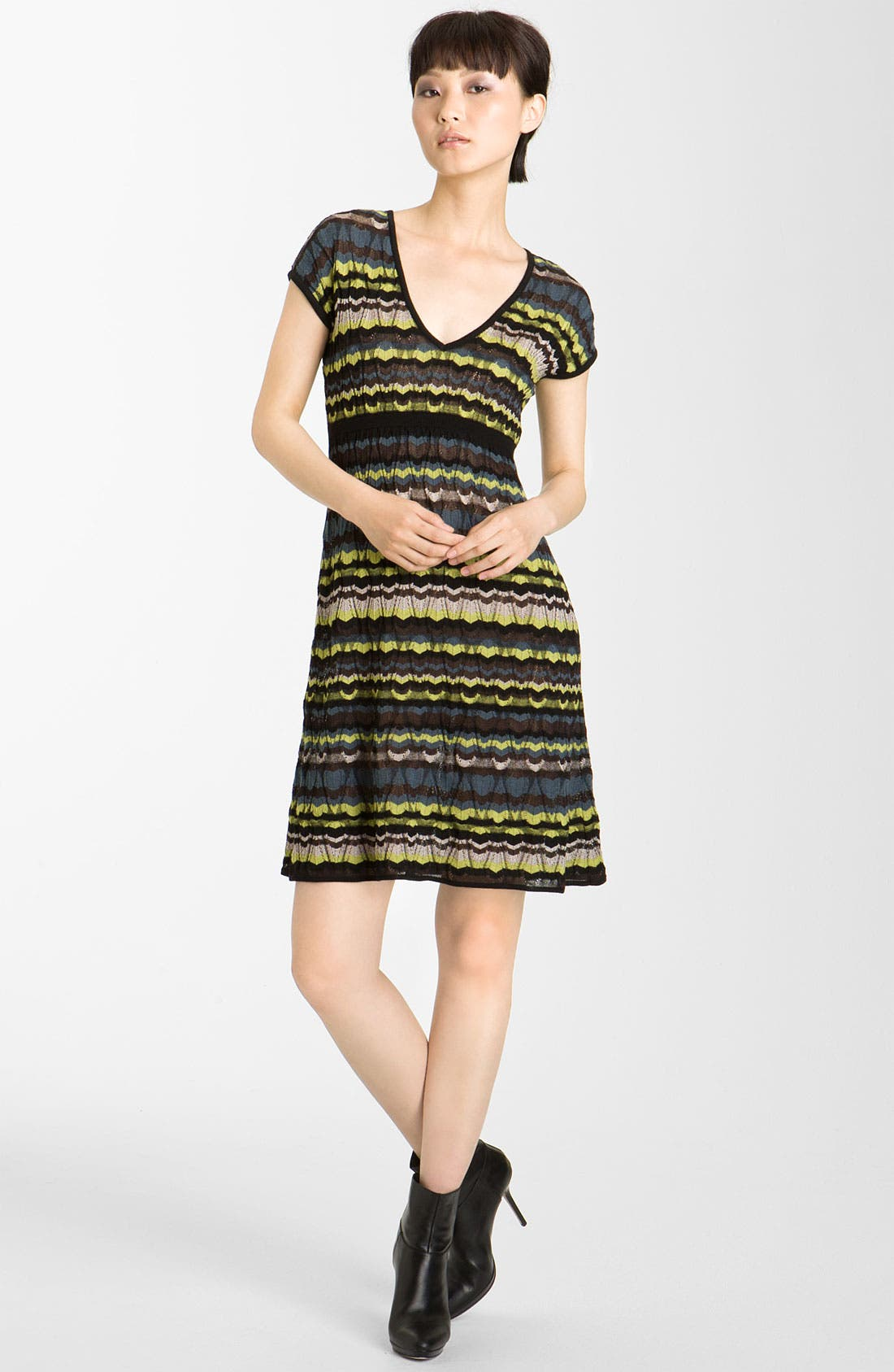 Main Image - M Missoni Lace Stripe Pointelle Knit Dress