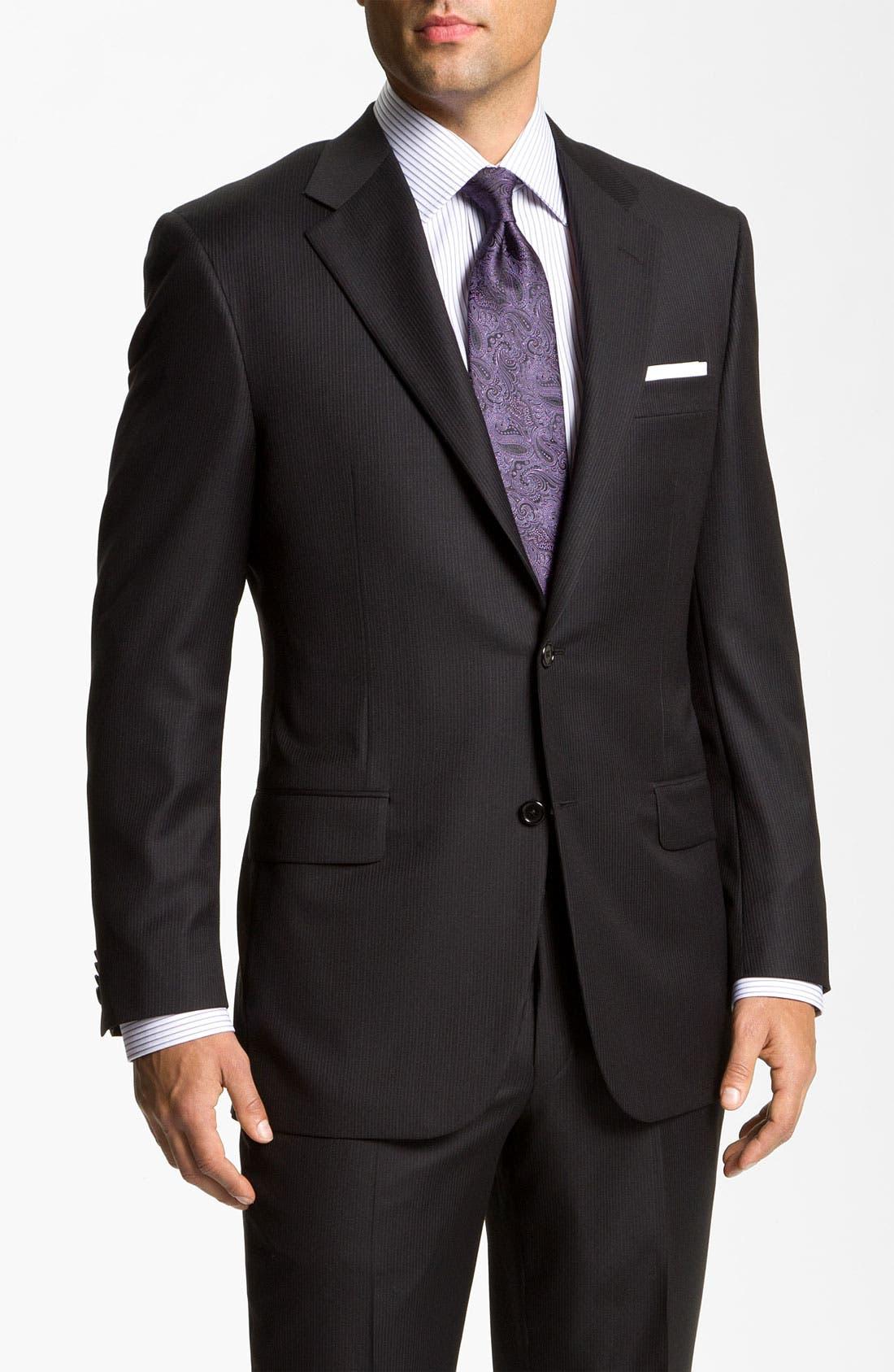 Main Image - Hickey Freeman Stripe Suit