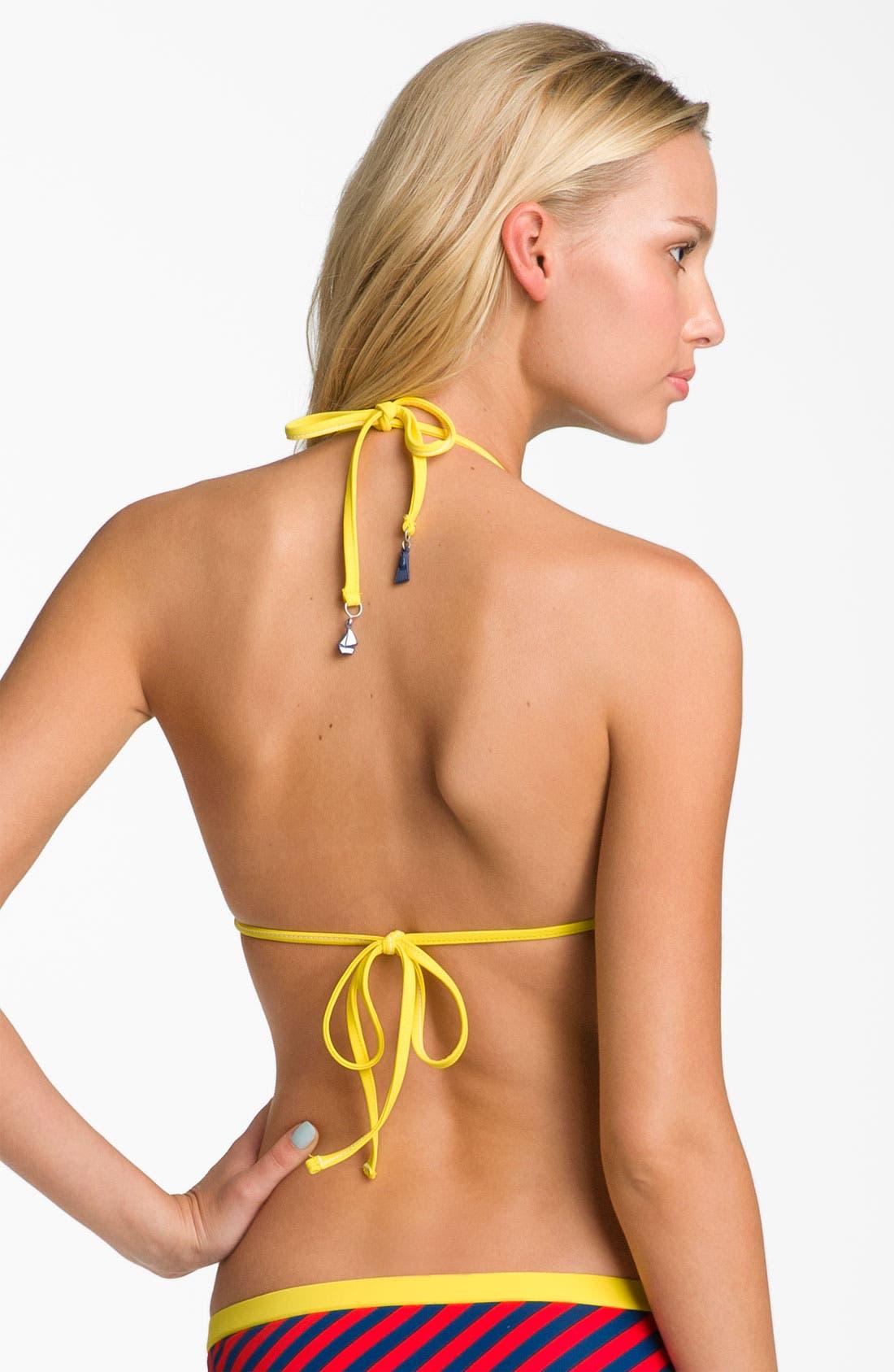 Alternate Image 2  - Modern Amusement Stripe Push-Up Sweetheart Bikini Top