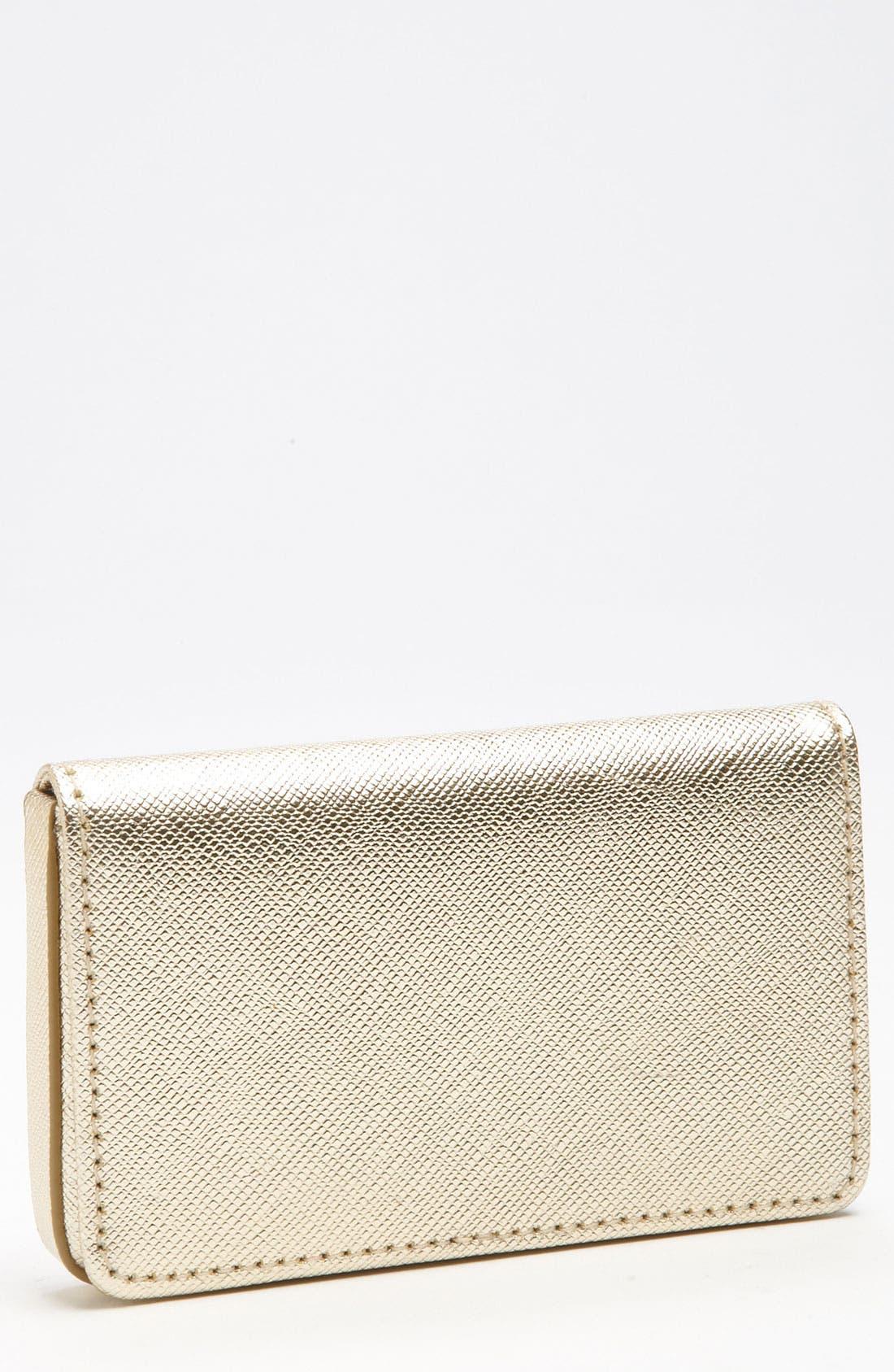 Alternate Image 1 Selected - Halogen® Leather Card Case