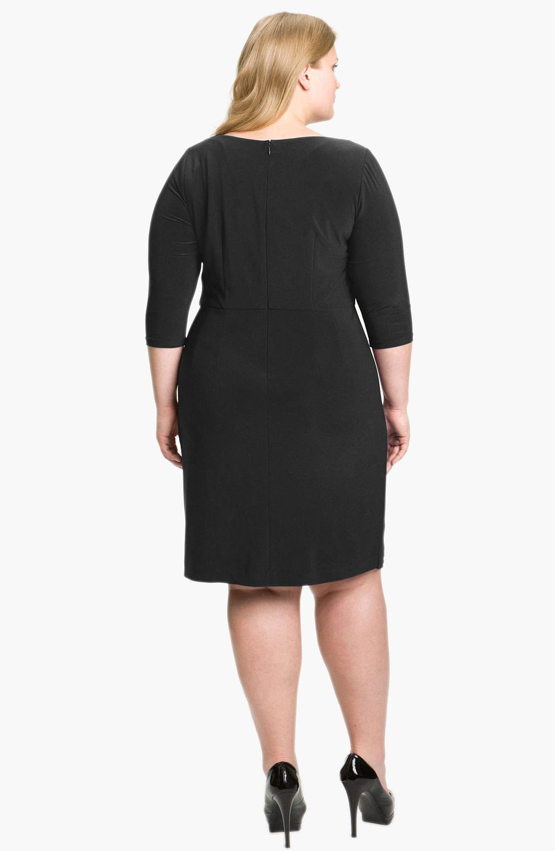 Alternate Image 2  - Adrianna Papell Embellished Matte Jersey Sheath Dress (Plus Size)