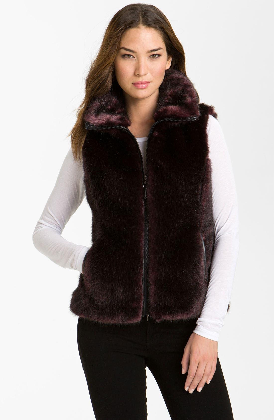 Alternate Image 1 Selected - Gallery Reversible Faux Fur Vest