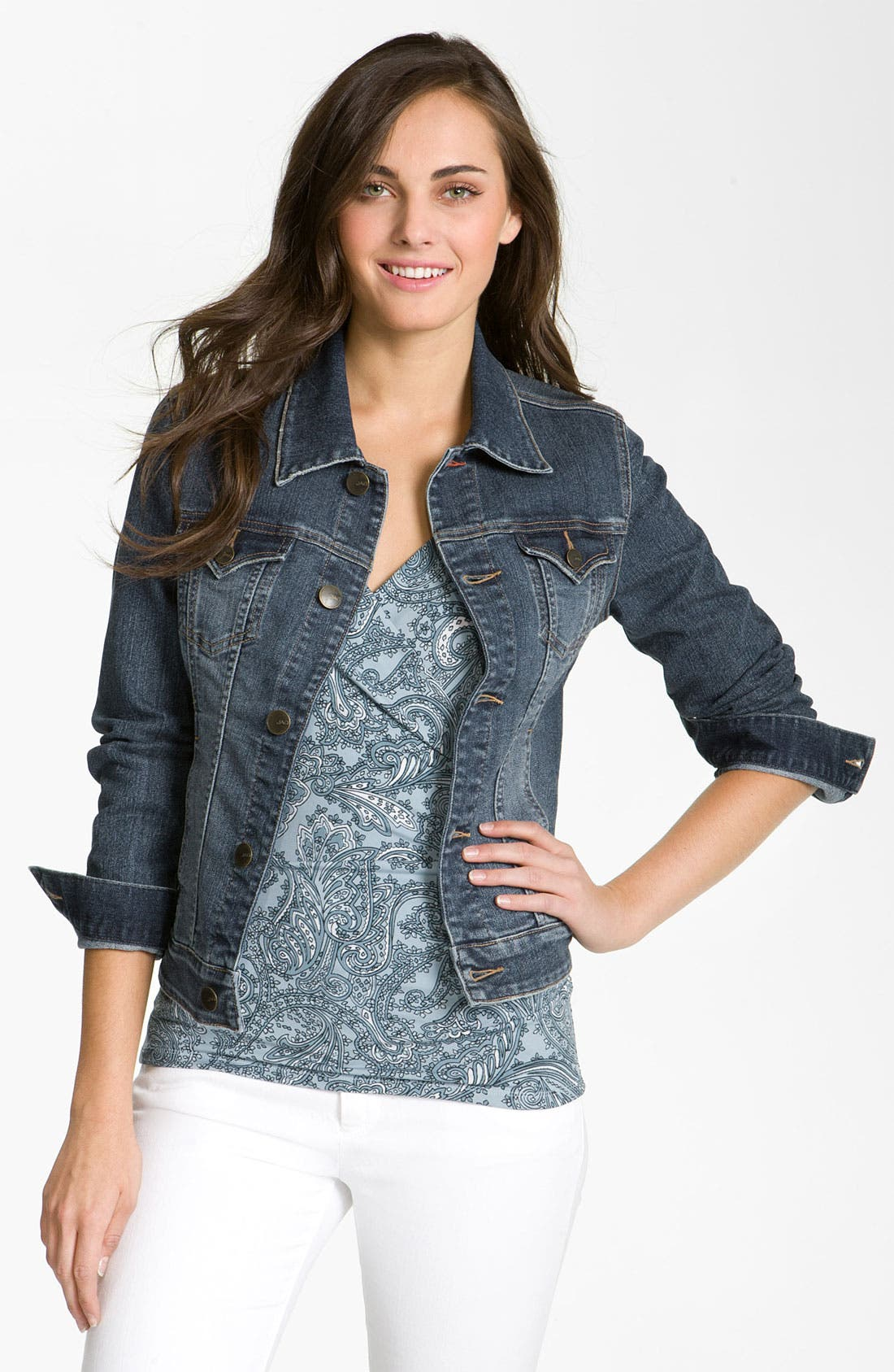 Main Image - Jag Jeans 'Rupert' Denim Jacket (Petite)