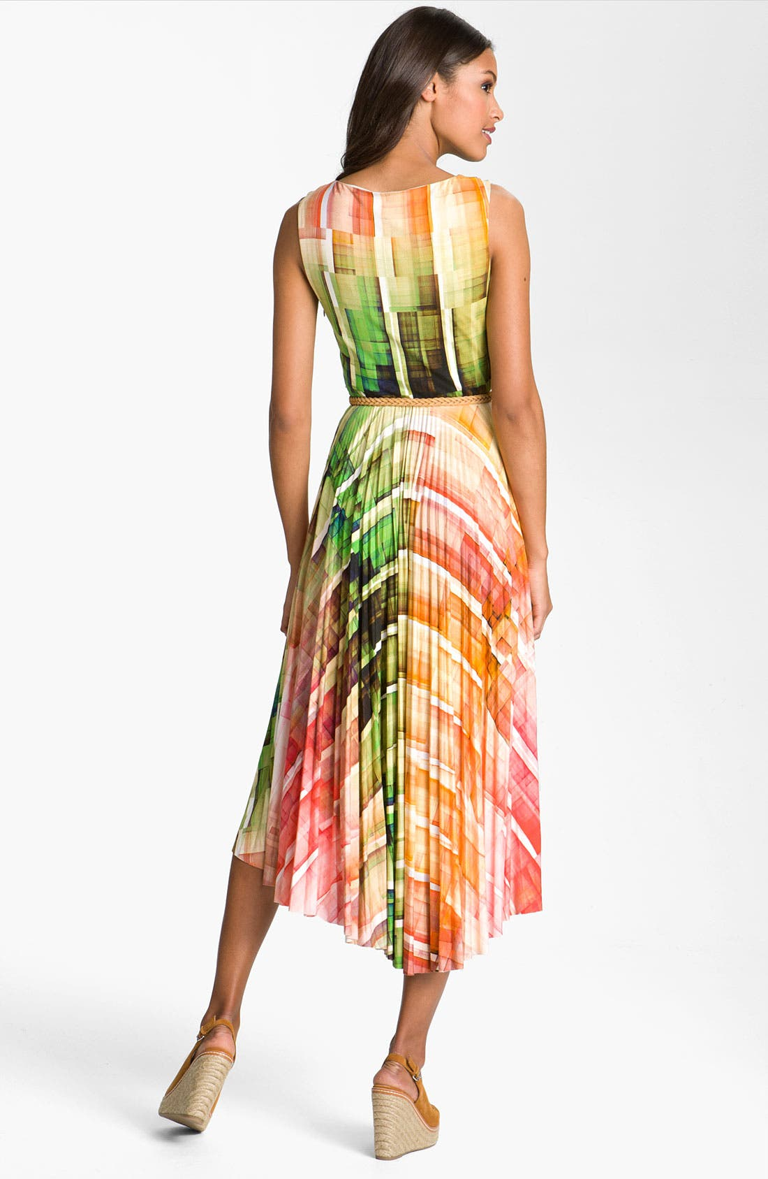 Alternate Image 2  - Suzi Chin for Maggy Boutique Print High/Low Hemline Dress