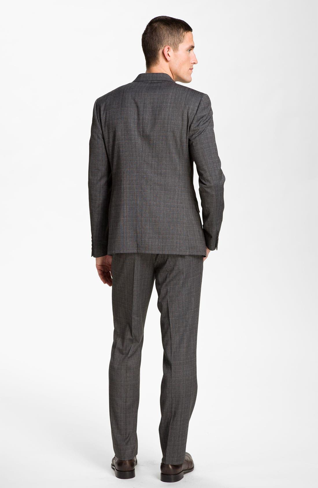 Alternate Image 5  - John Varvatos Star USA 'Petro' Plaid Flat Front Trousers