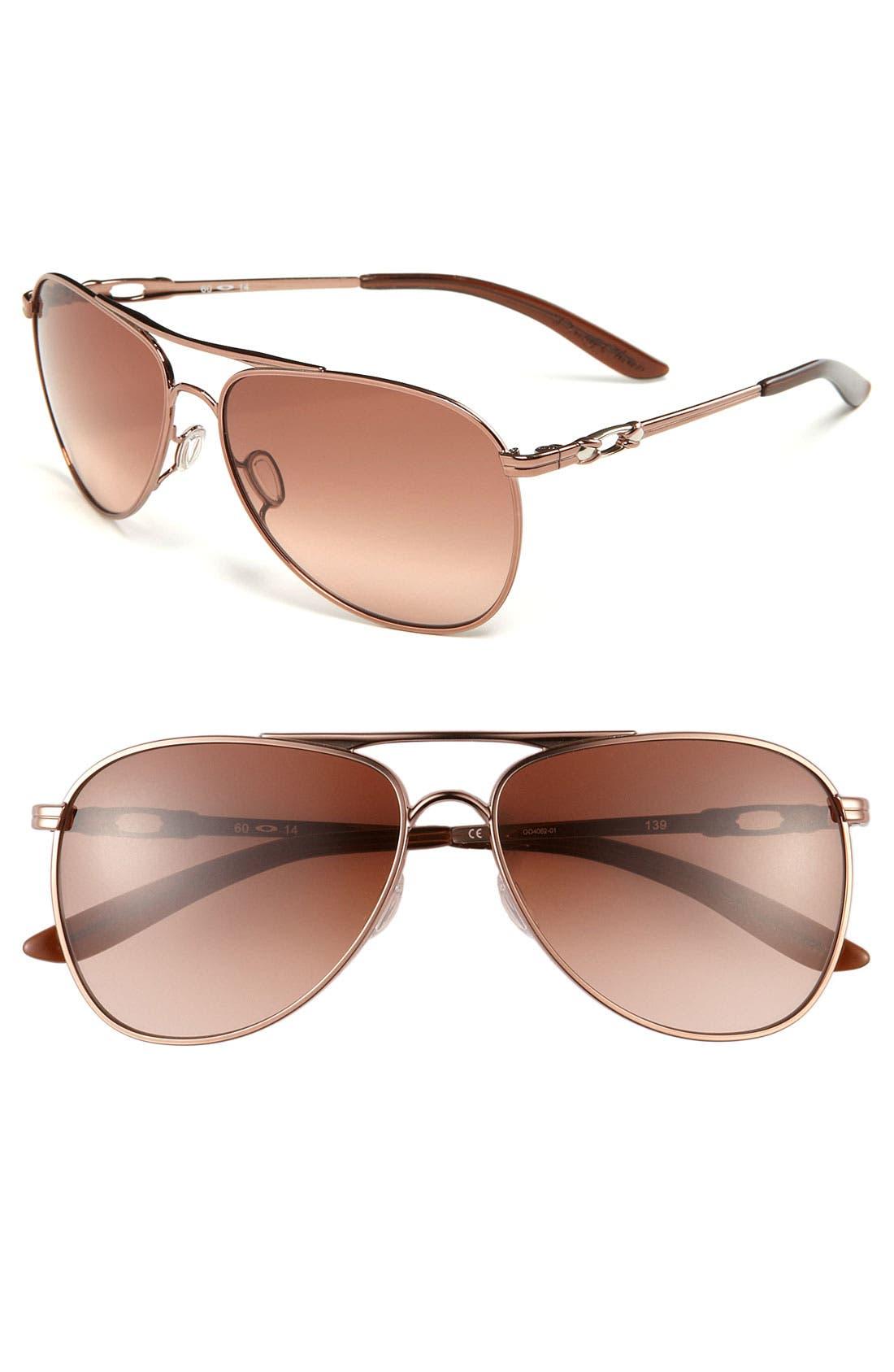 Alternate Image 1 Selected - Oakley 60mm Gradient Lens Aviator Sunglasses