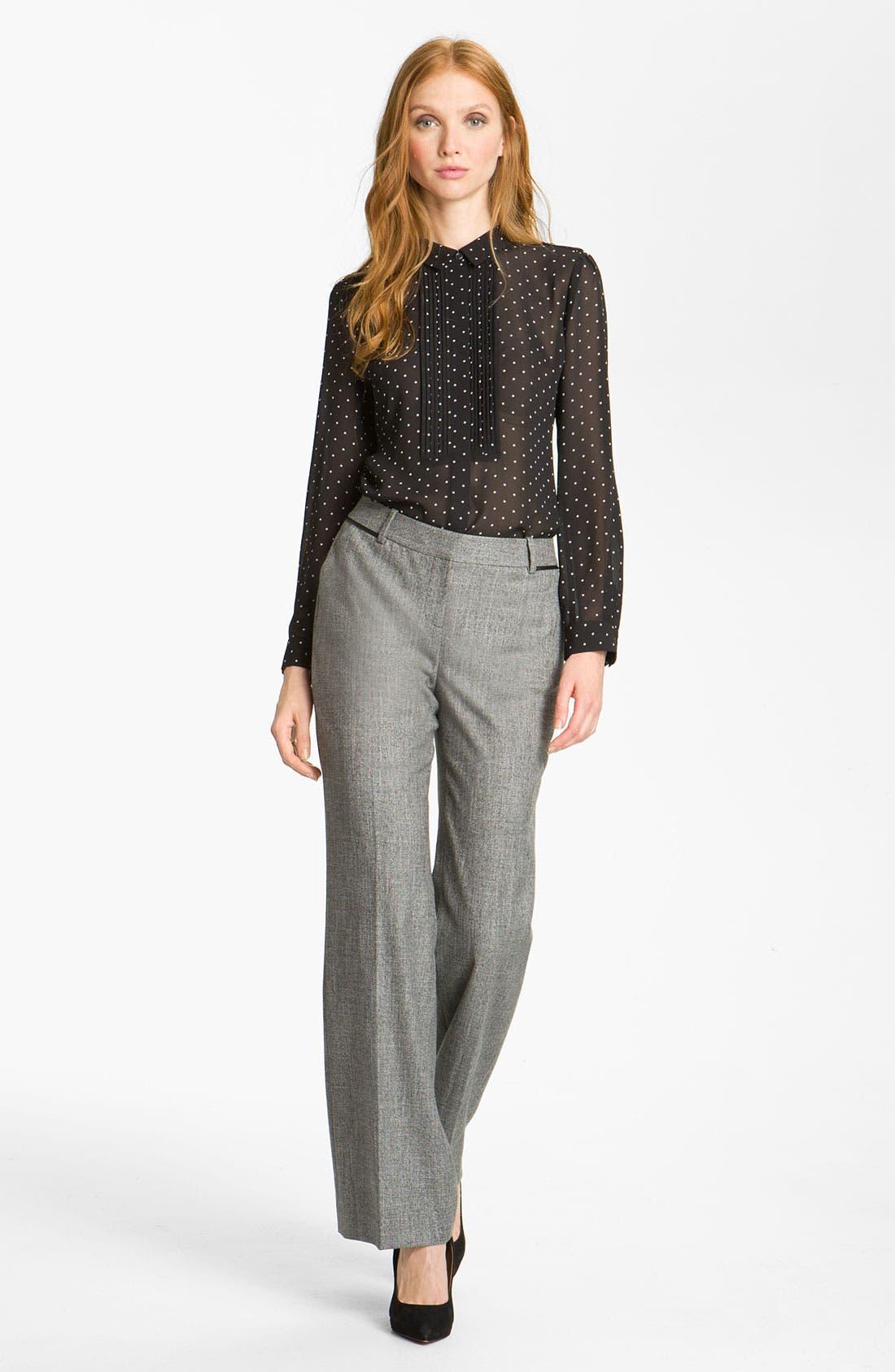 Alternate Image 4  - Halogen® 'Taylor' Curvy Fit Two Tone Pants