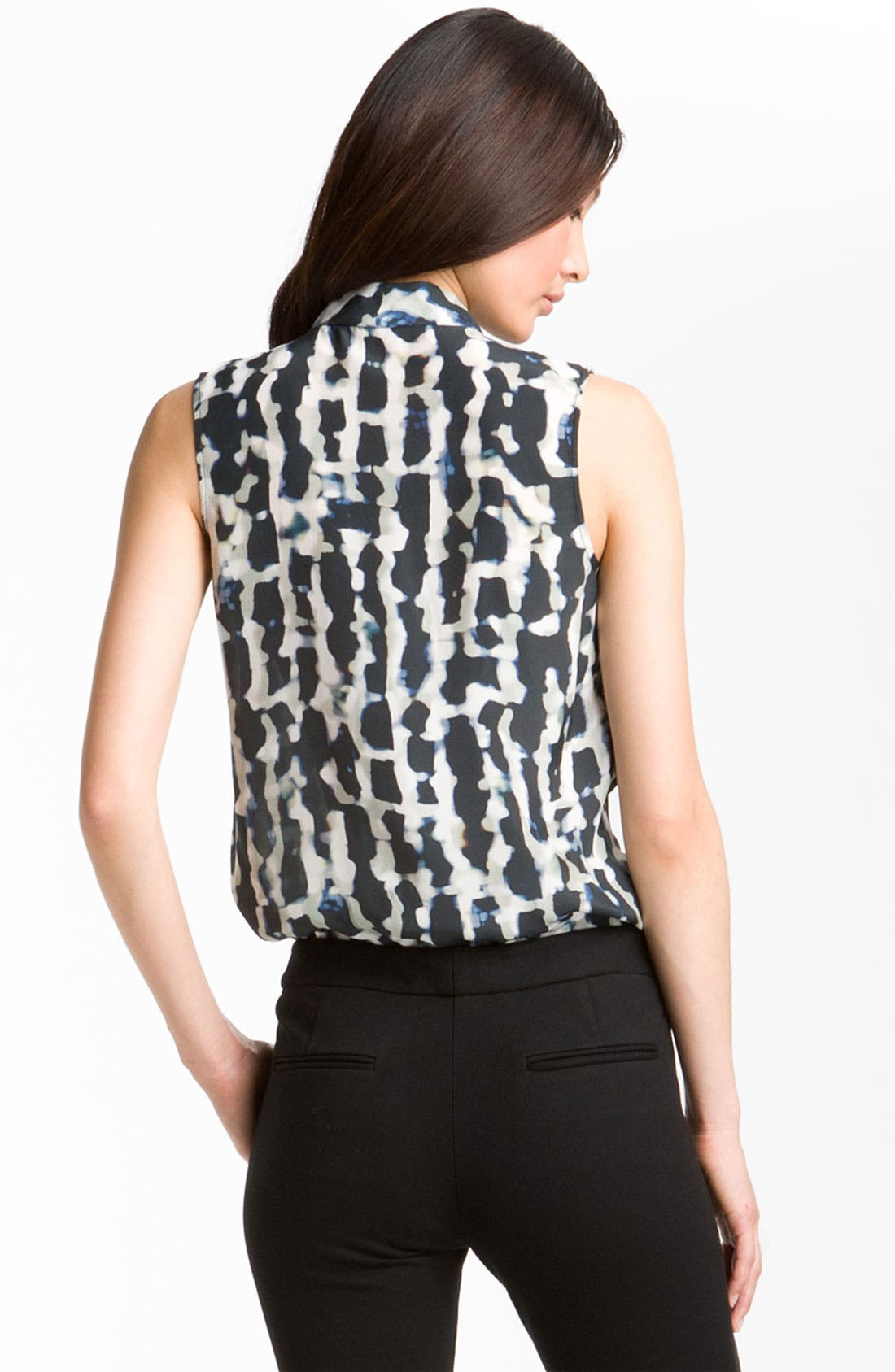 Alternate Image 2  - Theory 'Moha - Abstract Cloud' Print Silk Top