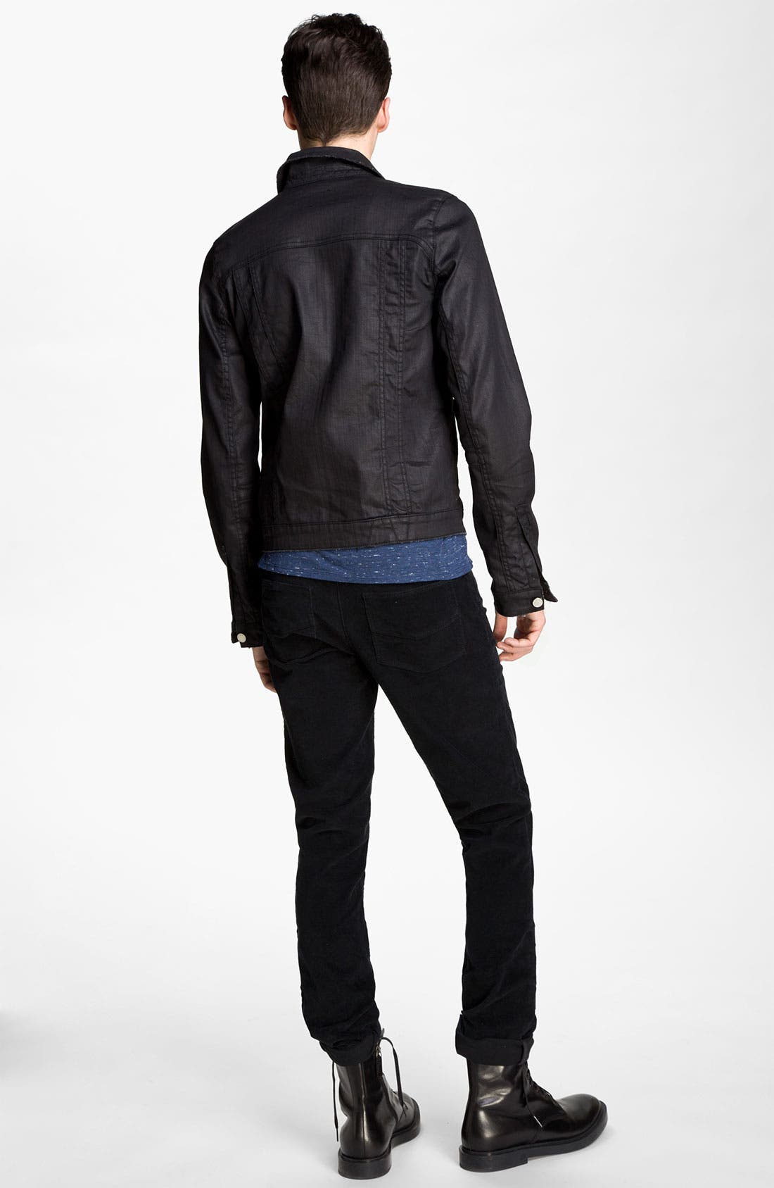 Alternate Image 5  - Zadig & Voltaire Waxed Denim Jacket