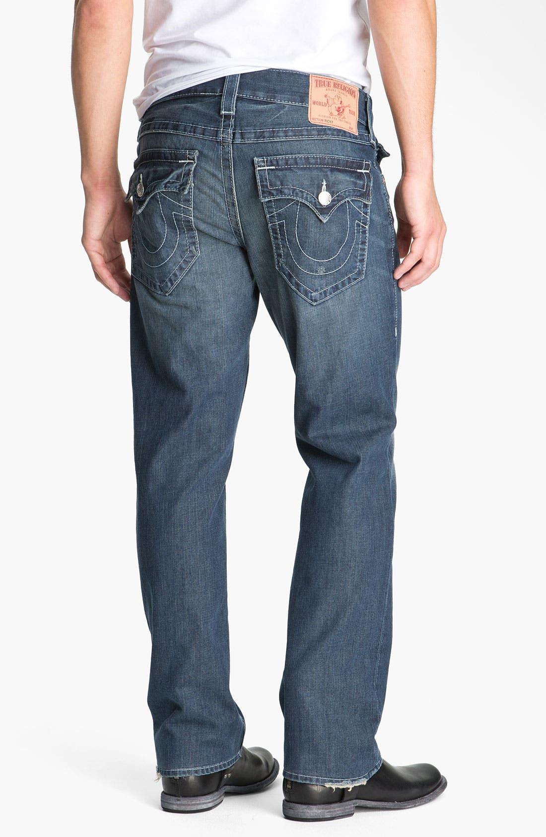 Alternate Image 1 Selected - True Religion Brand Jeans 'Ricky - Natural' Straight Leg Jeans (Surfer Dark)