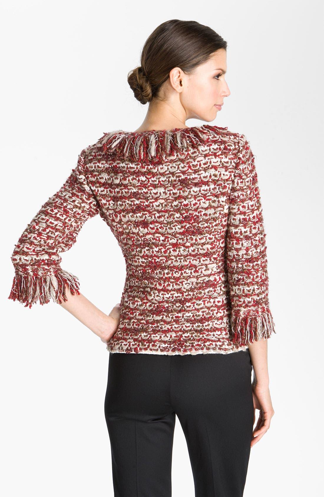 Alternate Image 2  - St. John Collection V-Neck Ruby Tweed Jacket