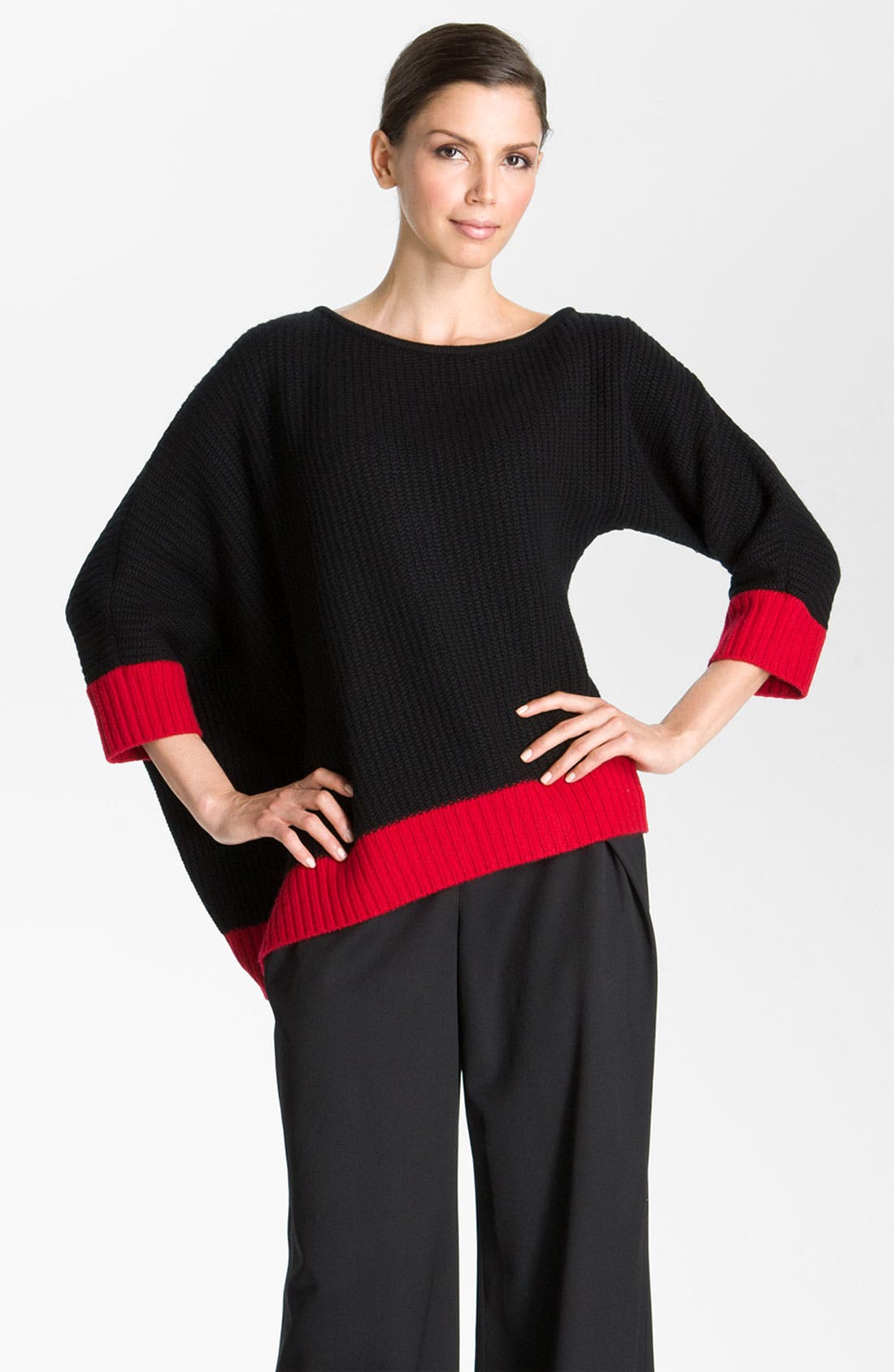 Main Image - St. John Collection Colorblocked Sweater