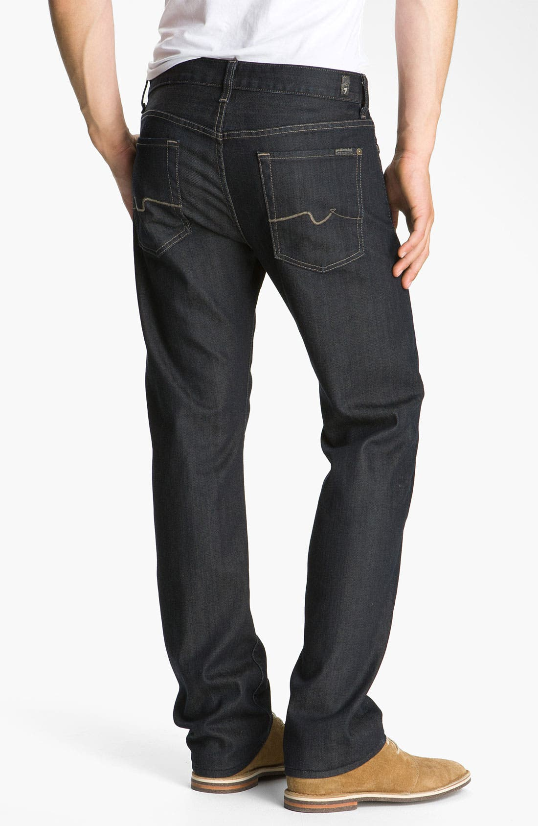 Alternate Image 2  - 7 For All Mankind® 'Standard' Straight Leg Jeans (Chester Row)