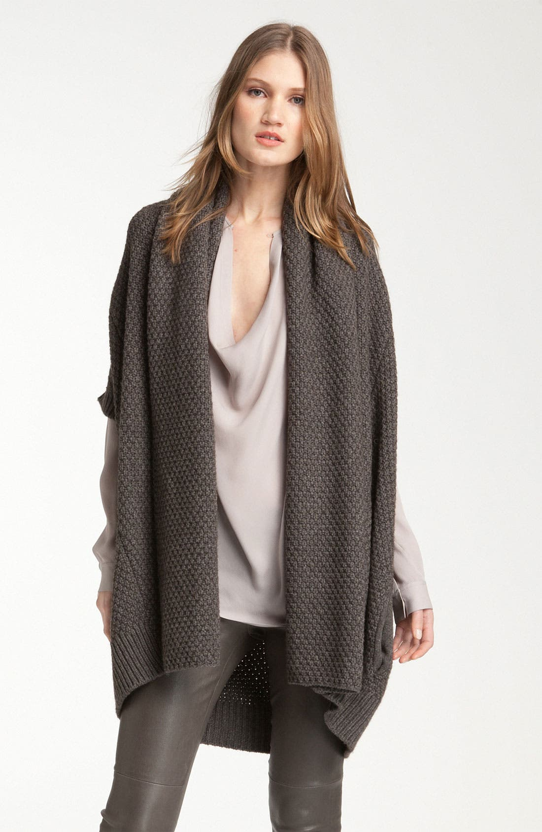 Alternate Image 1 Selected - Vince Oversized Waffle Knit Vest