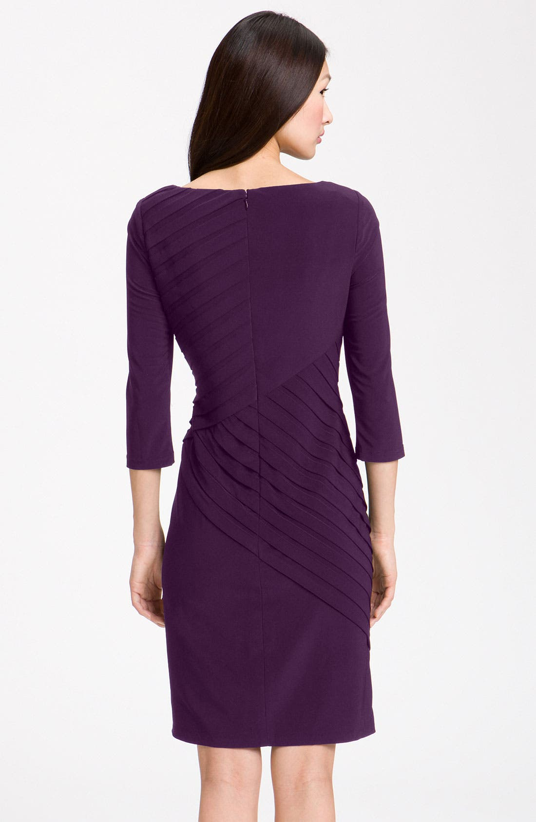 Alternate Image 2  - Adrianna Papell Pleated Jersey Sheath Dress