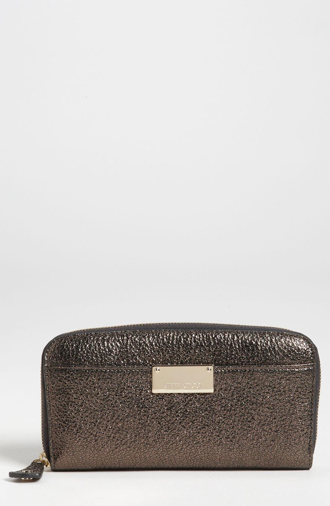 Alternate Image 1 Selected - Jimmy Choo 'Rush' Glitter Leather Wallet
