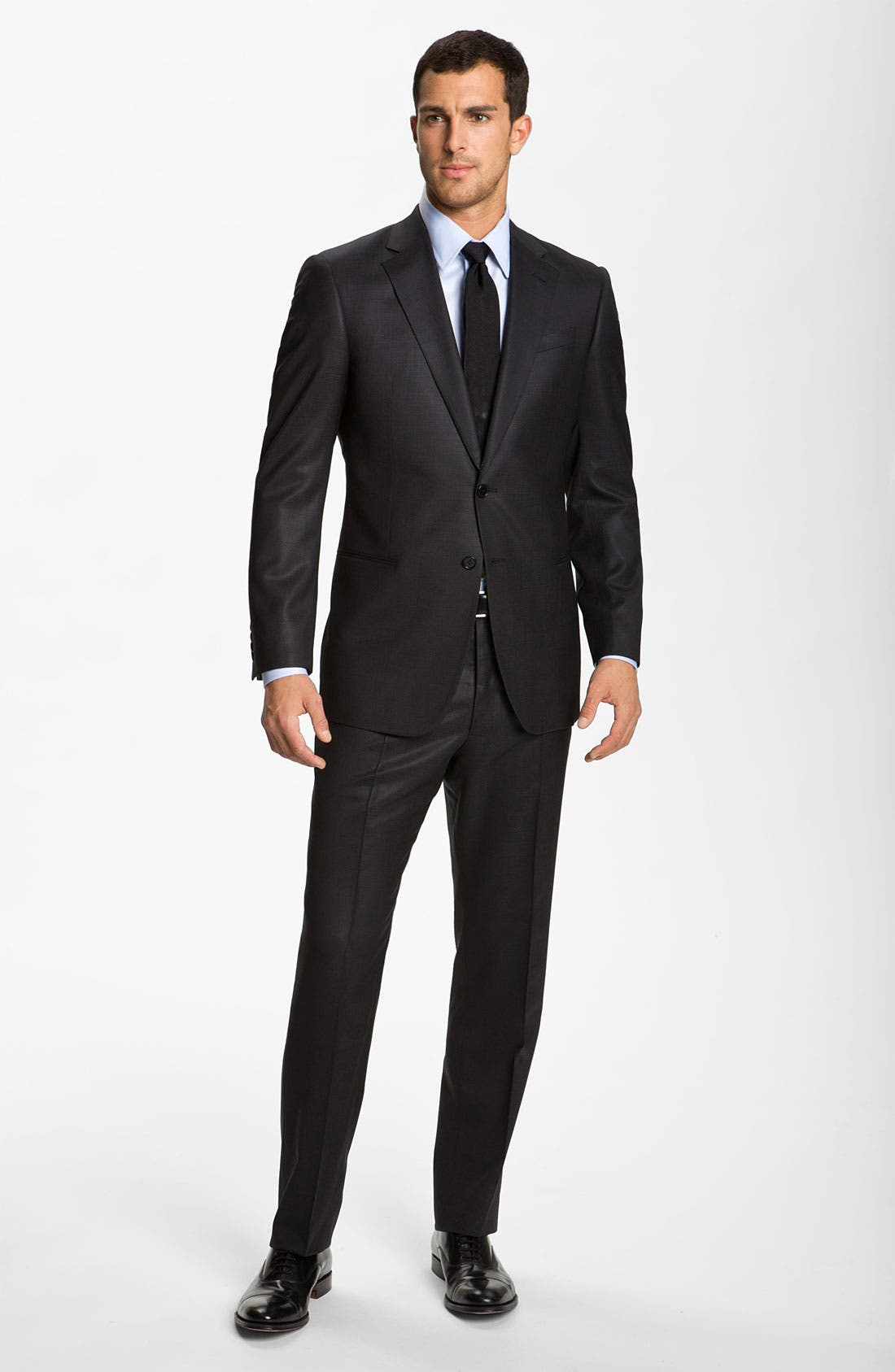 Alternate Image 2  - Armani Collezioni 'Giorgio' Trim Fit Wool Suit