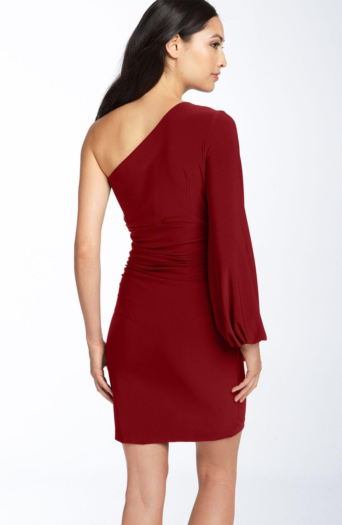 Alternate Image 2  - Maggy London One Shoulder Matte Jersey Dress