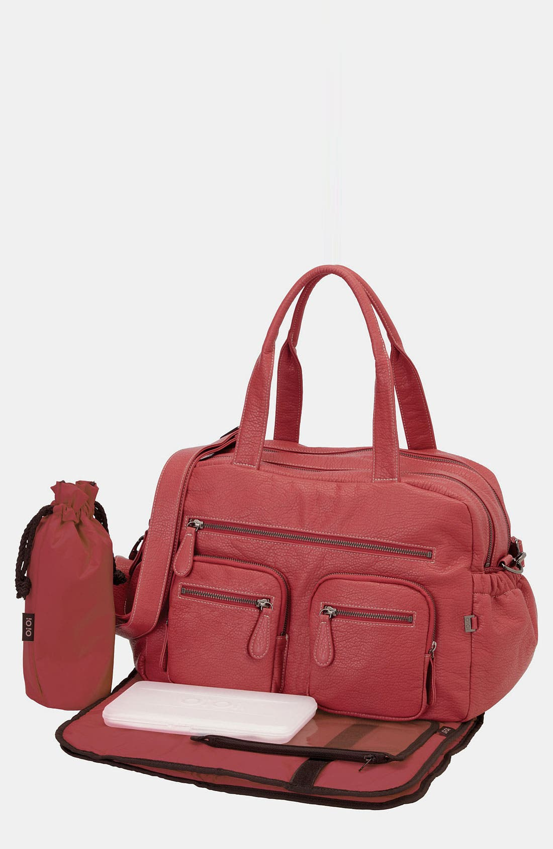 Carryall Diaper Bag,                         Main,                         color, Dark Pink