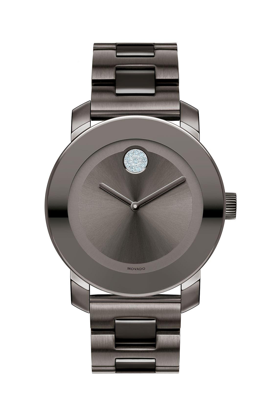 'Bold' Crystal Marker Bracelet Watch, 36mm,                         Main,                         color, Graphite