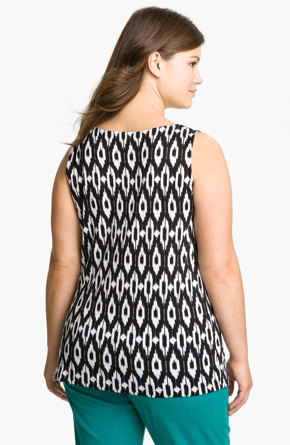 Alternate Image 2  - Olivia Moon Sleeveless Drape Front Knit Top (Plus Size)