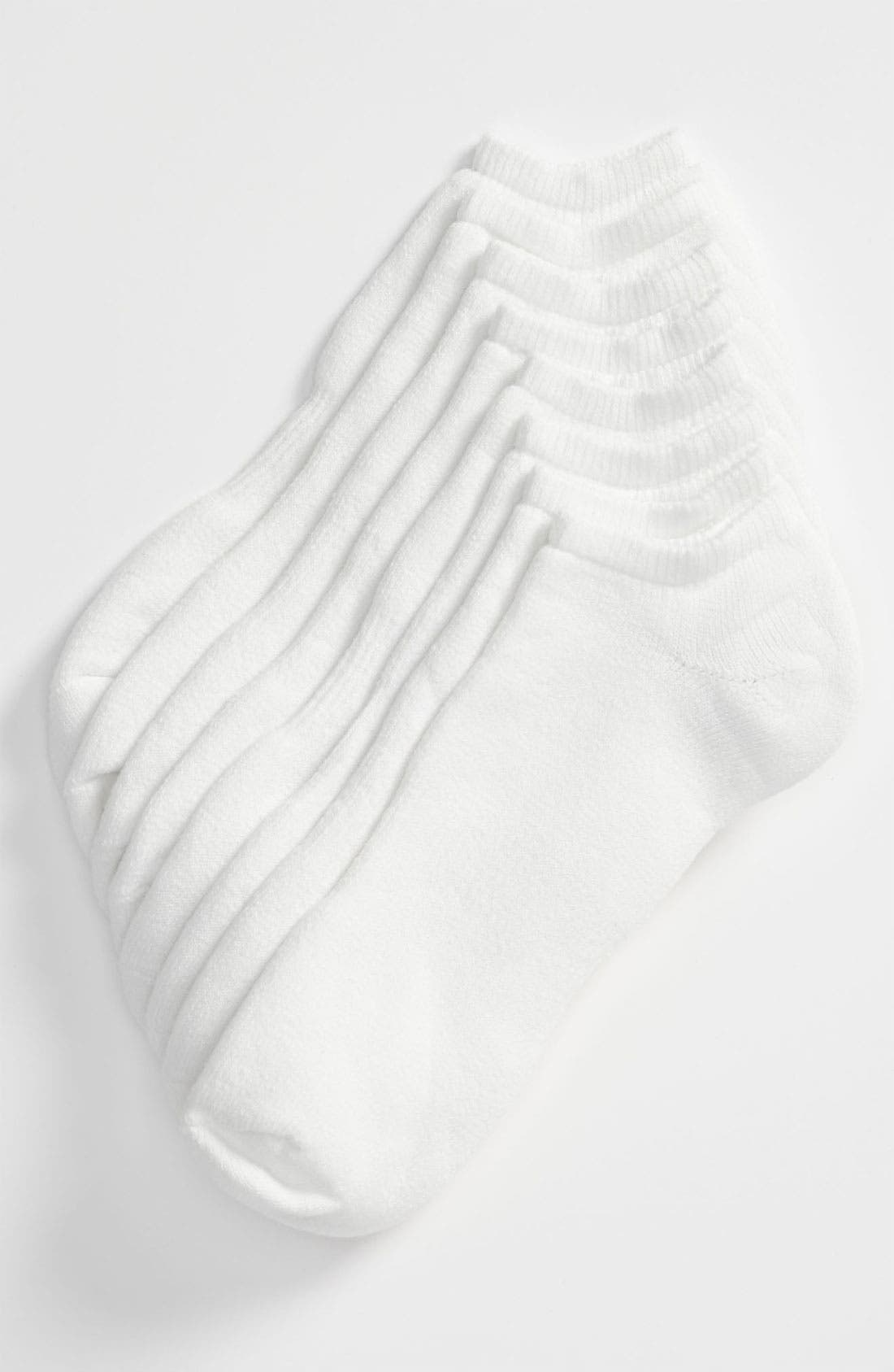 Alternate Image 1 Selected - Nordstrom Men's Shop King Size No-Show Socks (4-Pack)