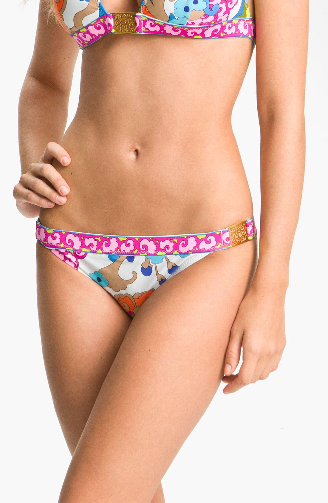 Alternate Image 1 Selected - Trina Turk 'Cherry Blossoms' Hipster Bikini Bottoms