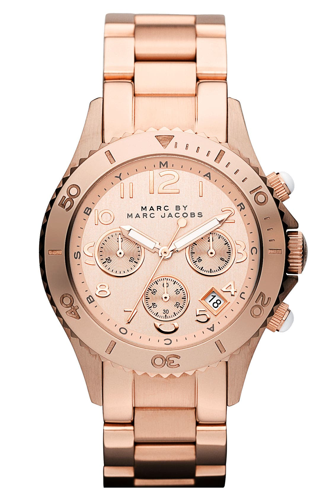 Main Image - MARC JACOBS 'Rock' Round Chronograph Bracelet Watch
