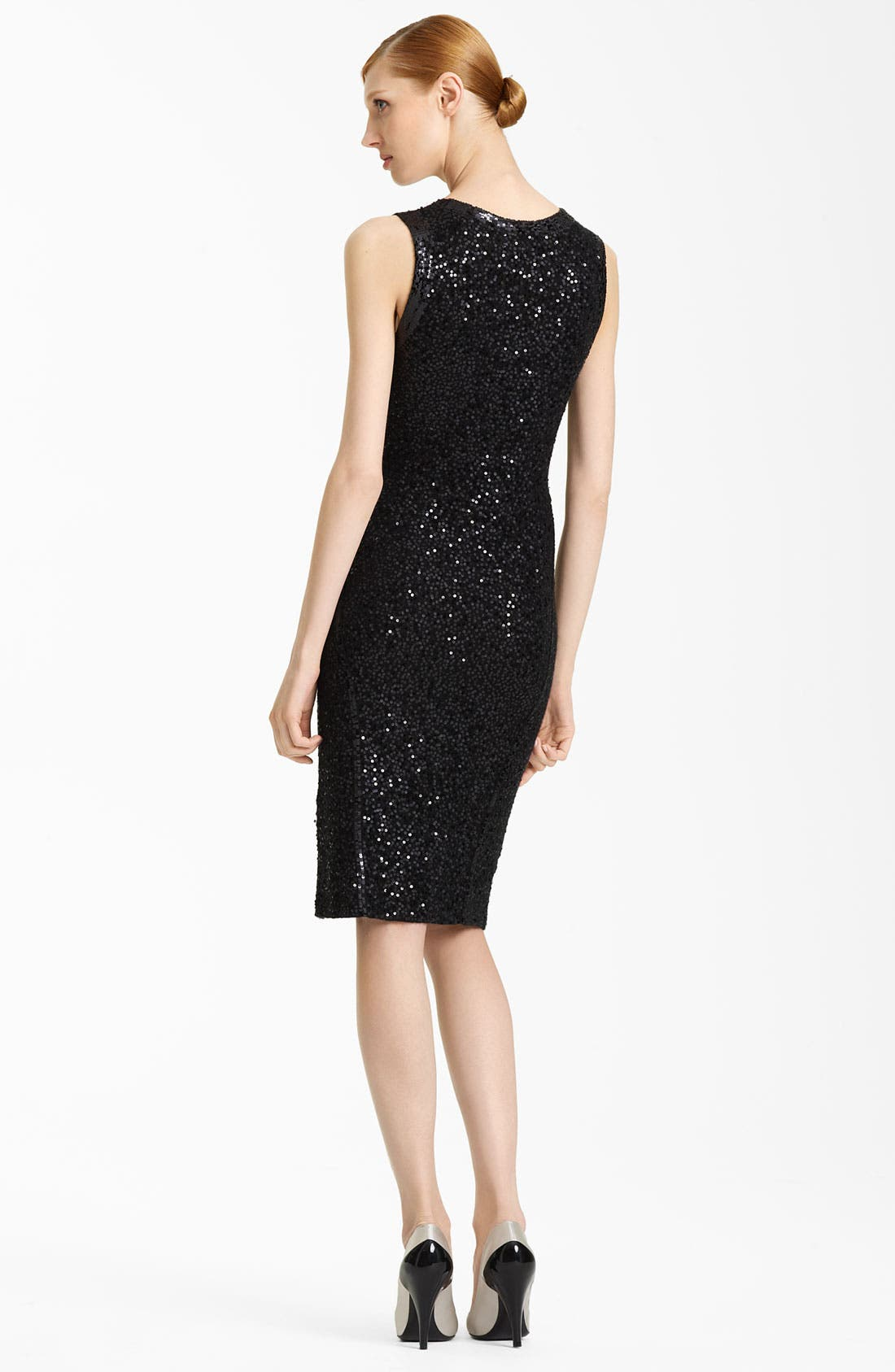 Alternate Image 2  - Donna Karan Collection Sleeveless Sequin Dress