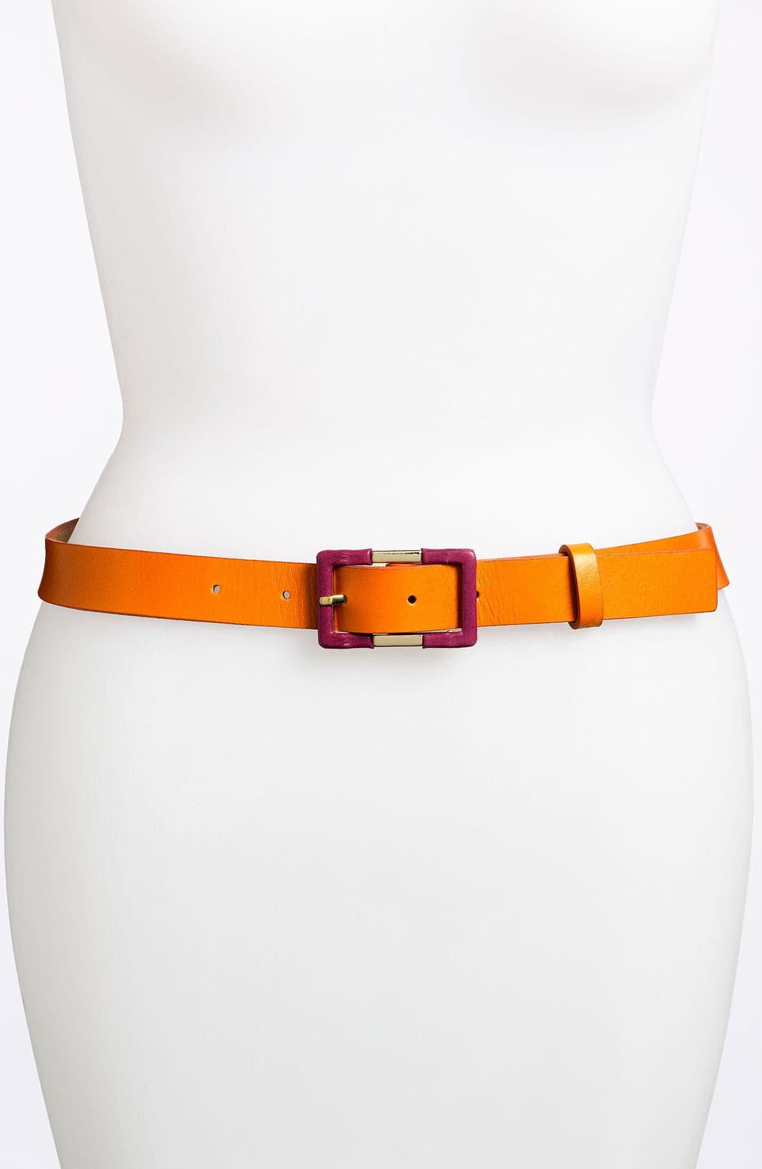 Alternate Image 1 Selected - Tasha Covered Buckle Belt