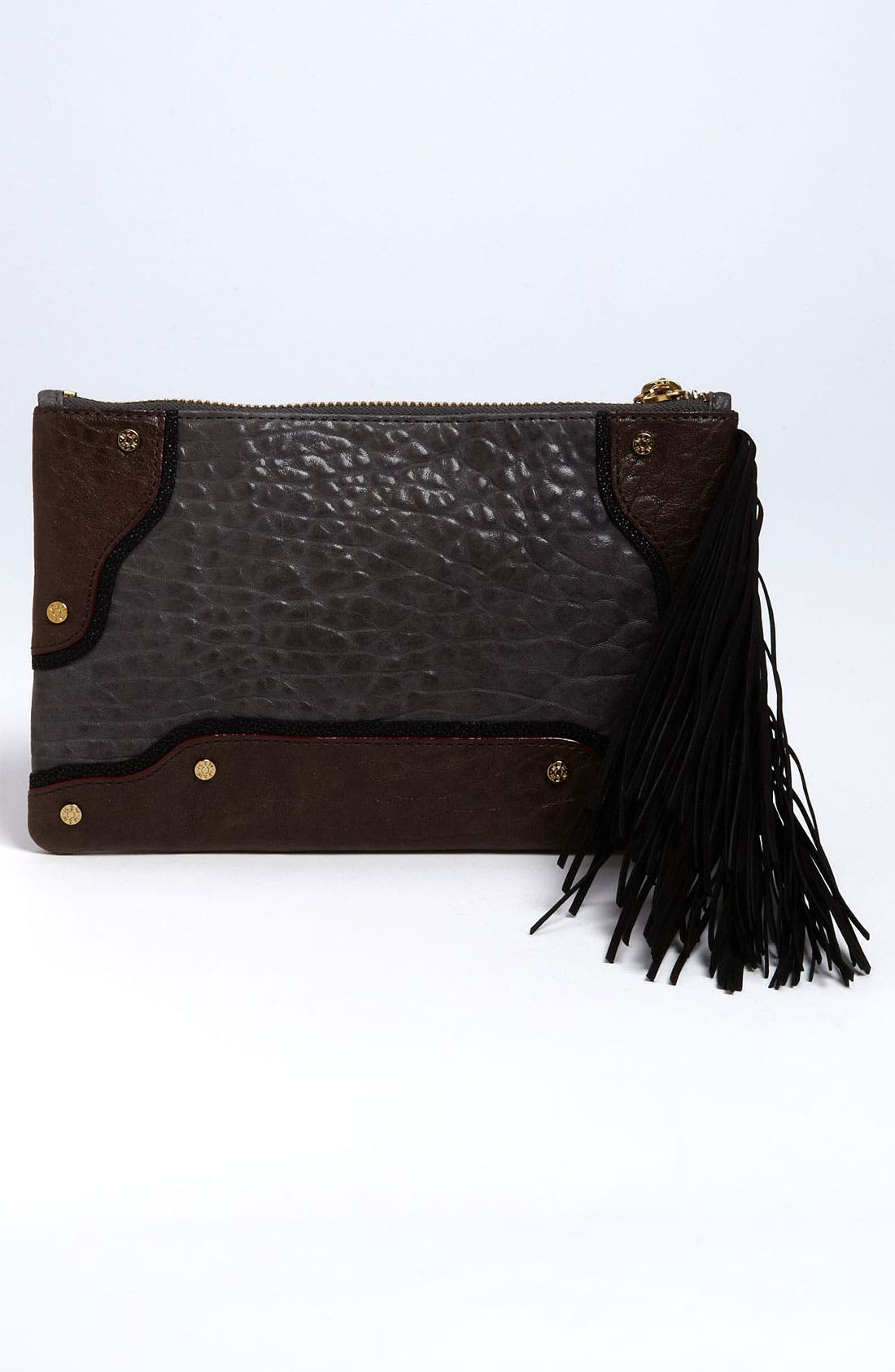 Alternate Image 4  - MZ Wallace 'Hamish' Mixed Leather Clutch