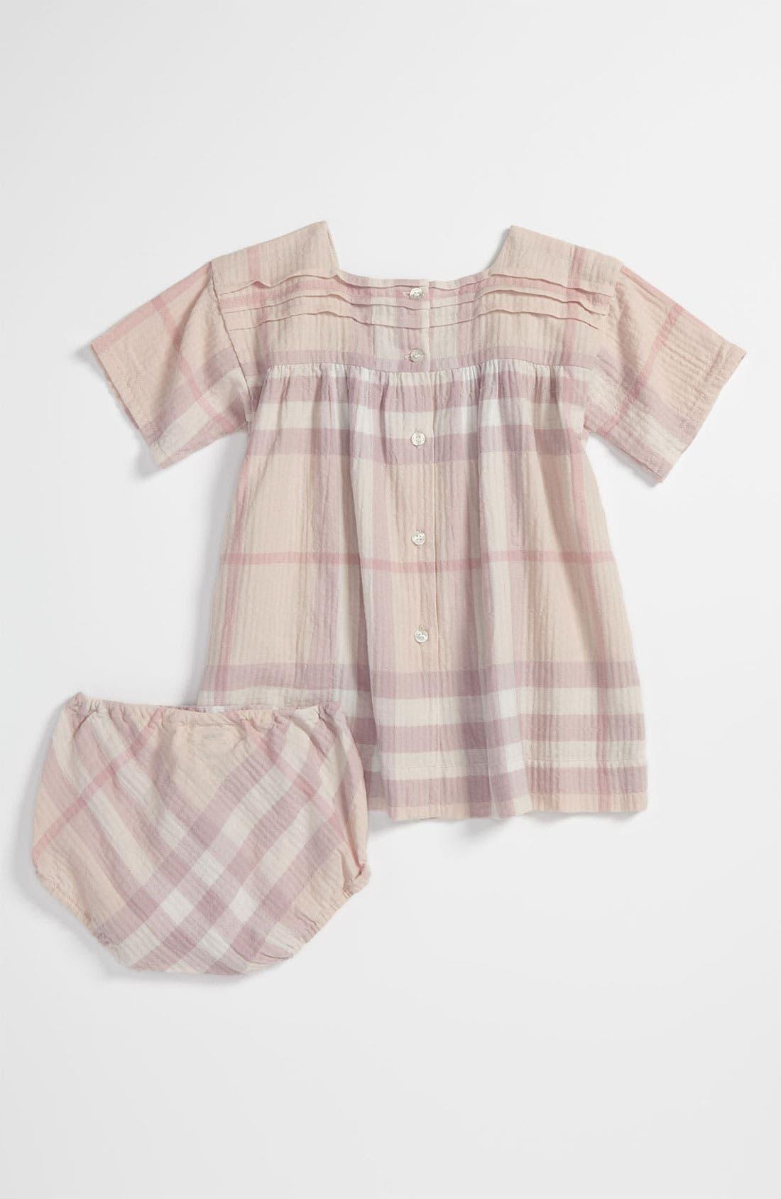 Alternate Image 2  - Burberry Check Print Dress (Infant)
