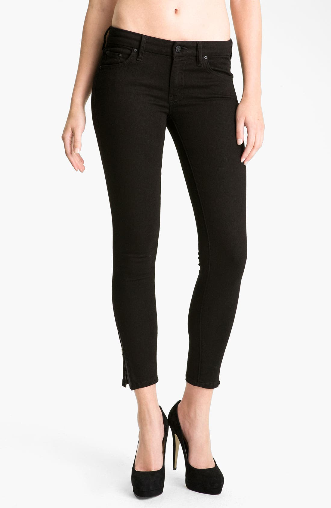 Alternate Image 1 Selected - MOTHER 'The Looker' Crop Skinny Jeans (A Model Spy)