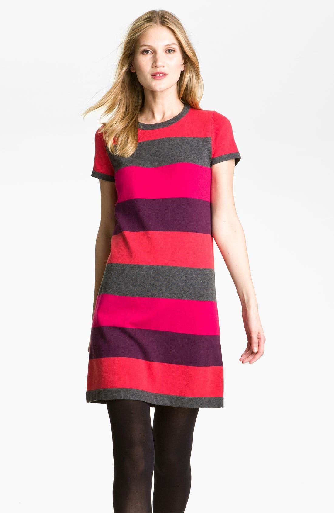 Alternate Image 1 Selected - Calvin Klein Stripe Knit Sweater Dress