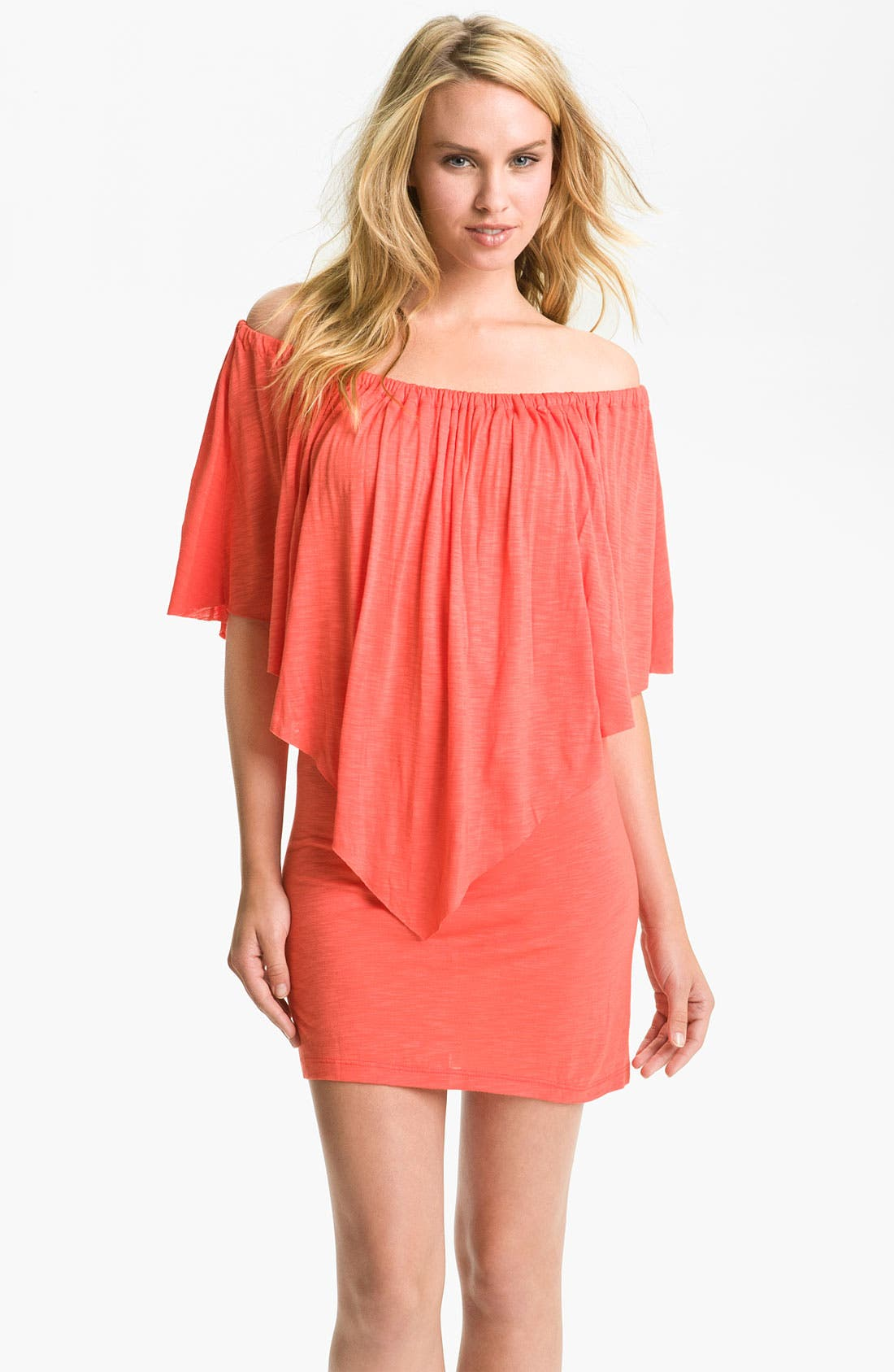 Alternate Image 1 Selected - Elan Off Shoulder Cover-Up Dress