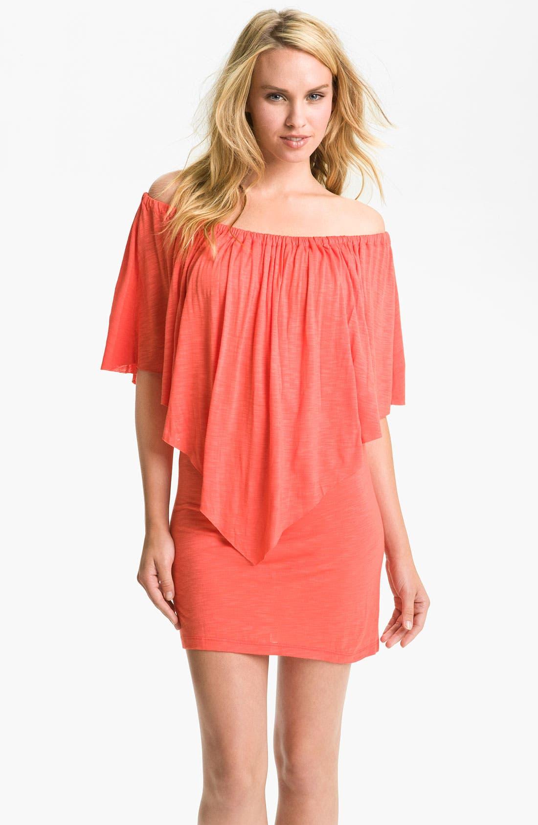 Main Image - Elan Off Shoulder Cover-Up Dress