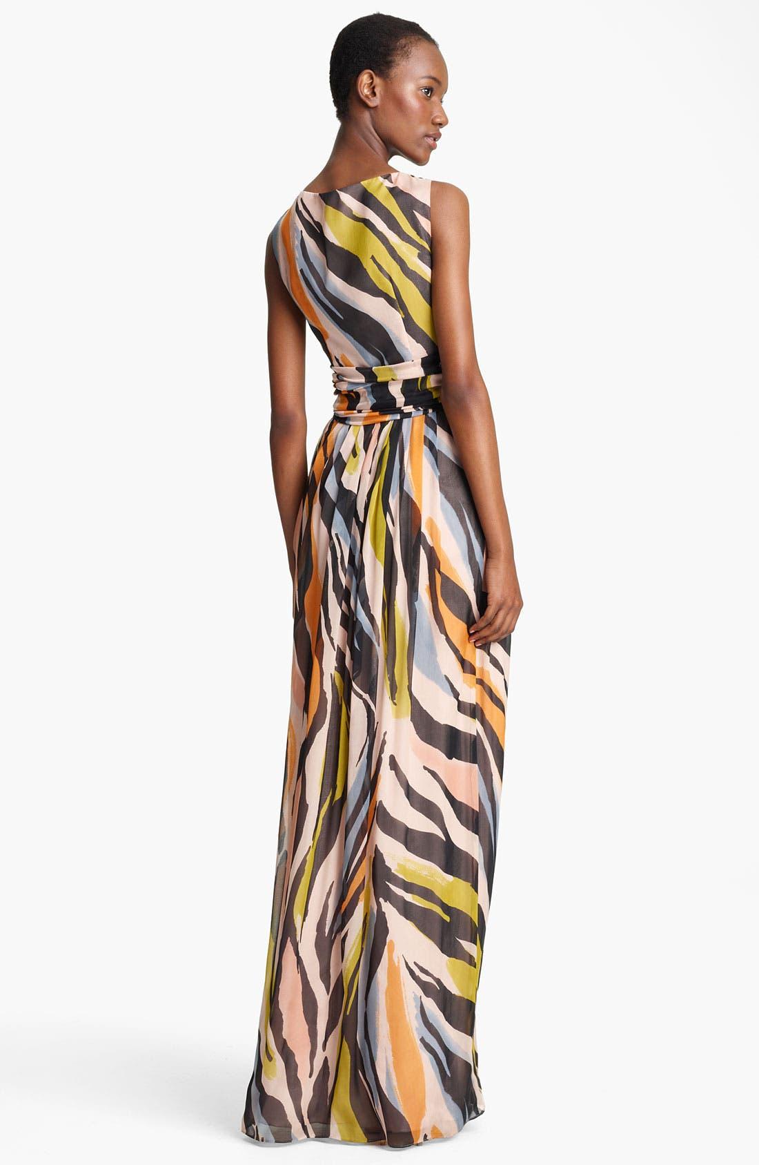 Alternate Image 2  - Moschino Cheap & Chic Animal Print Silk Gown