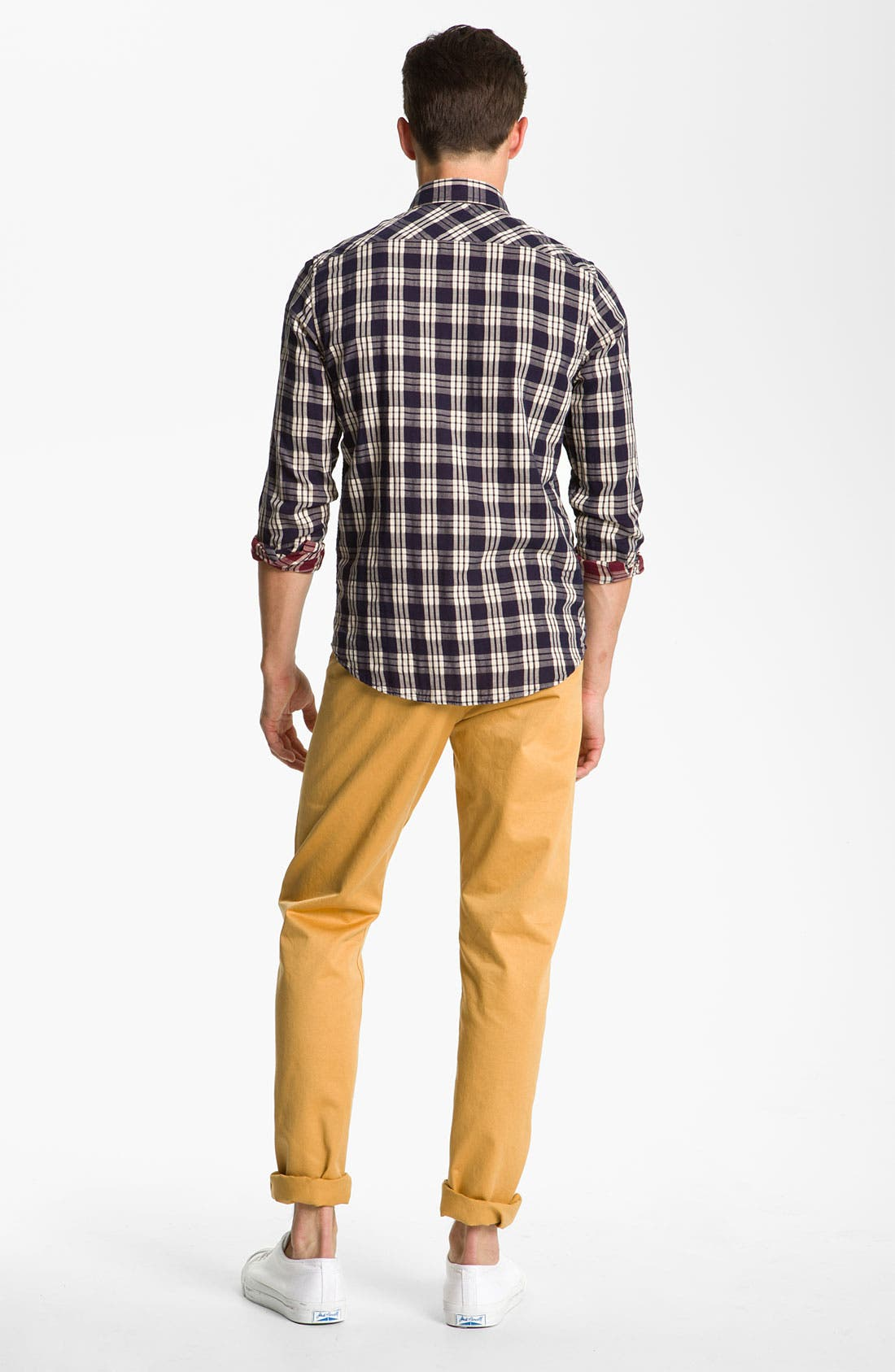 Alternate Image 6  - Ben Sherman 'Clerkenwell' Reversible Plaid Woven Shirt
