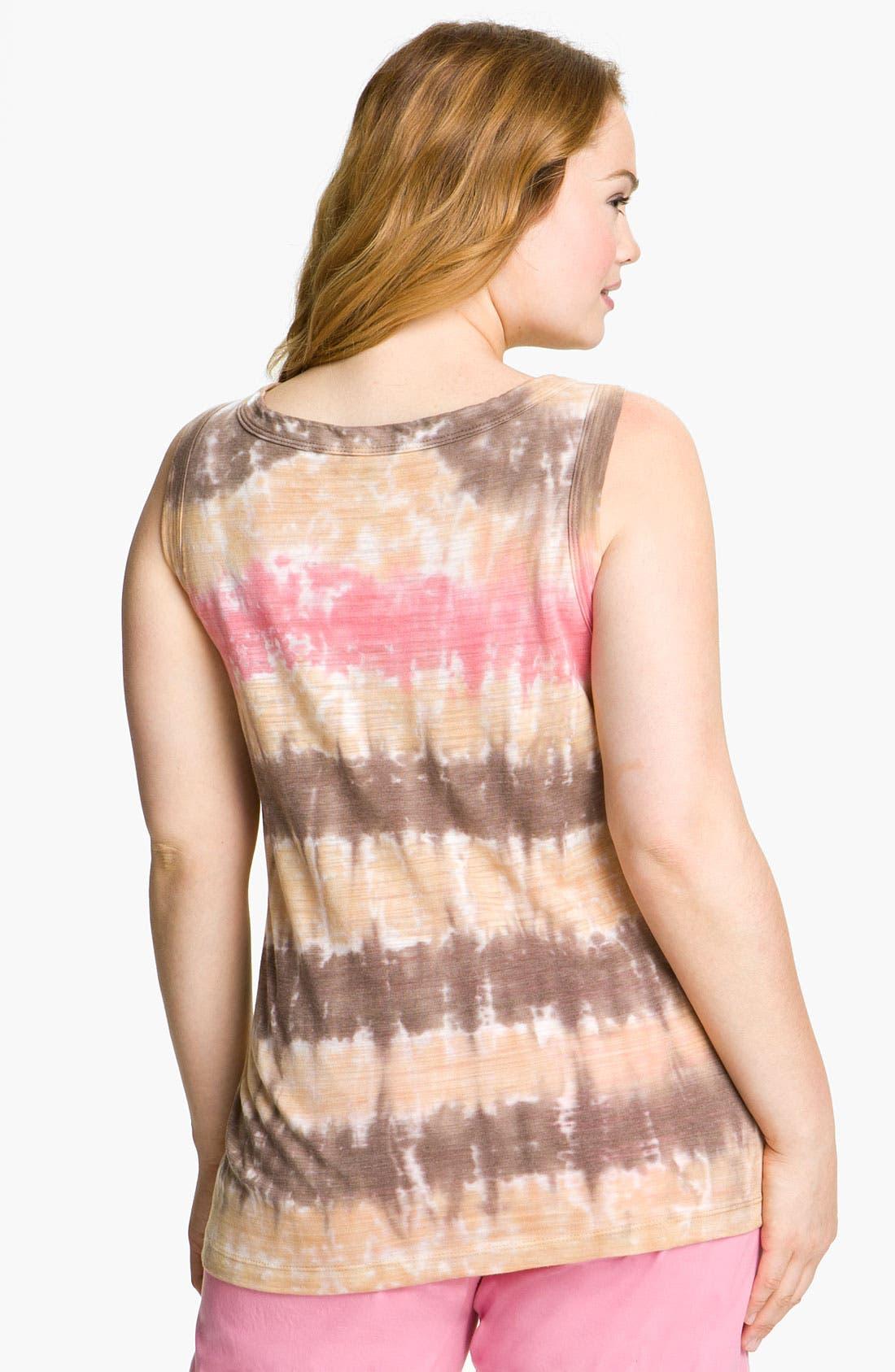 Alternate Image 2  - XCVI Wearables Tie Dye Tank Top (Plus)