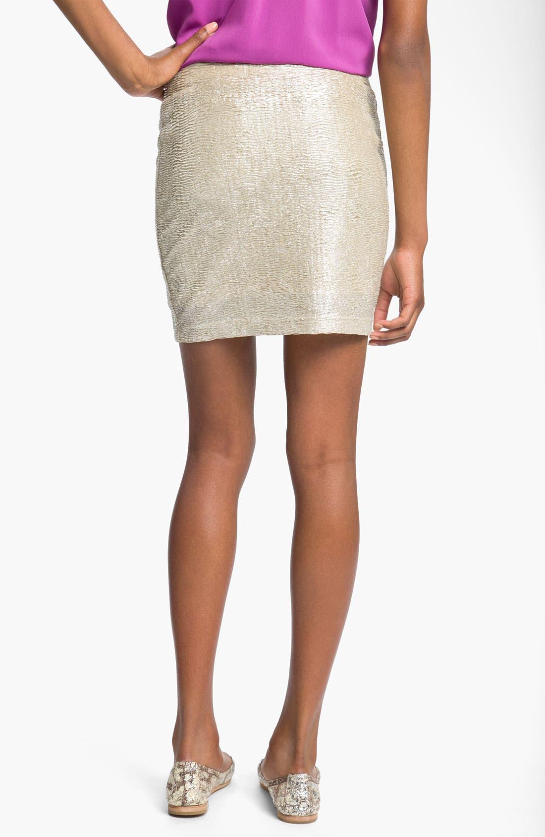 Alternate Image 2  - Lush Metallic Miniskirt (Juniors)