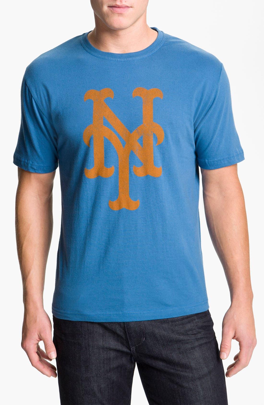 'New York Mets' Baseball T-Shirt,                             Main thumbnail 1, color,                             Blue