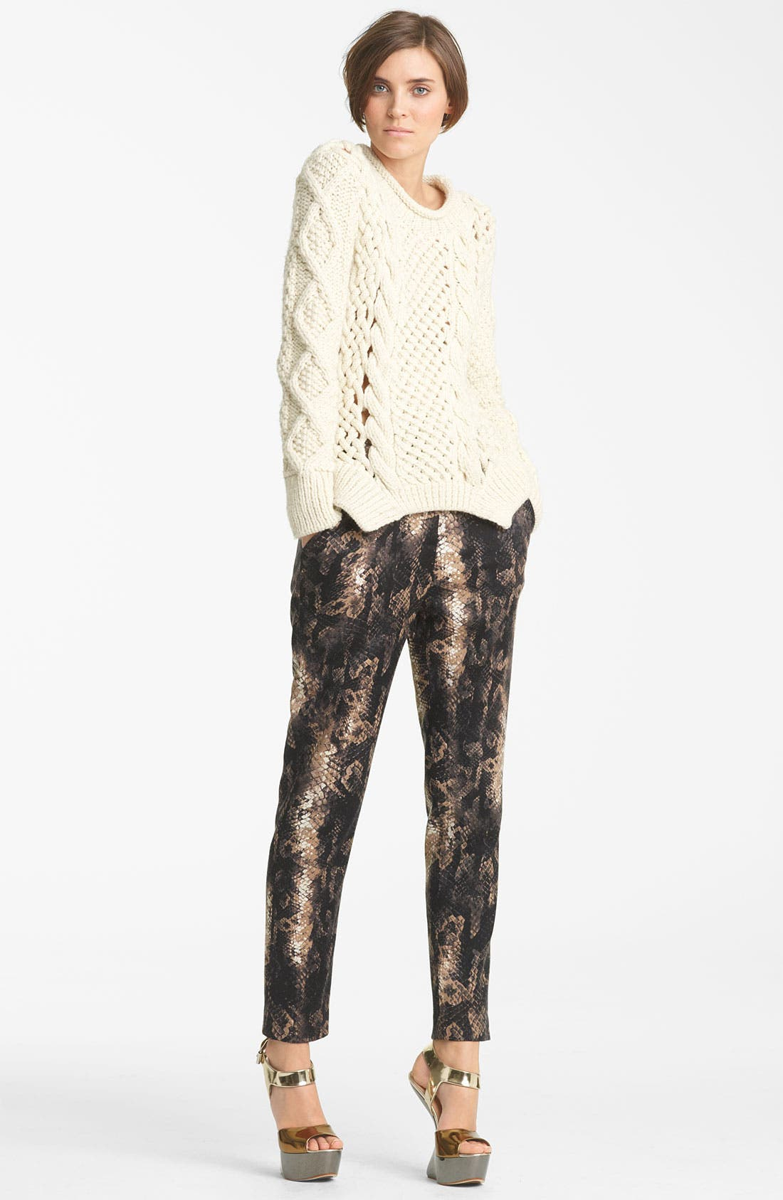 Alternate Image 5  - Yigal Azrouël Python Print Stretch Wool Pants