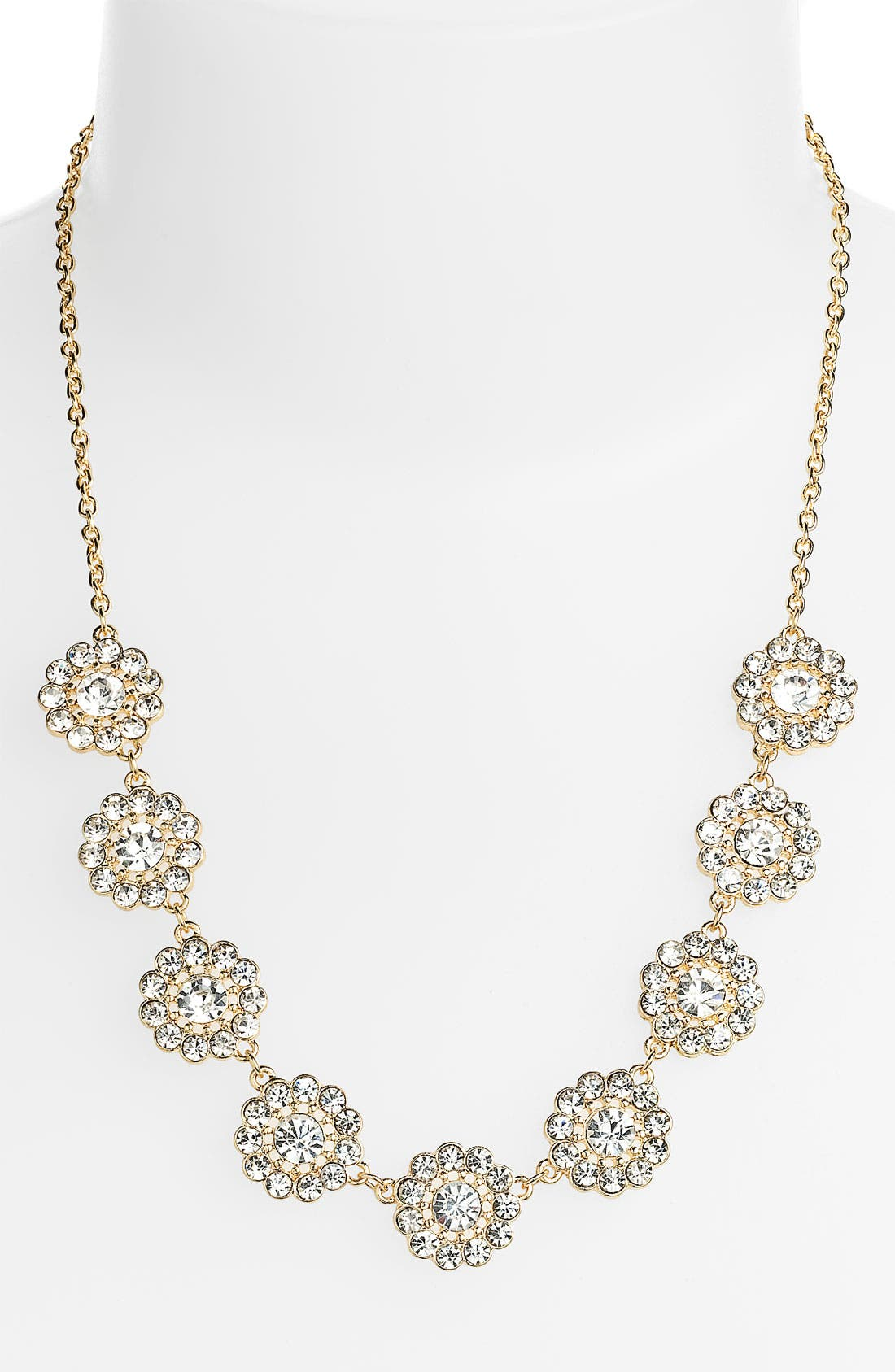 Main Image - Carole Floral Rhinestone Necklace