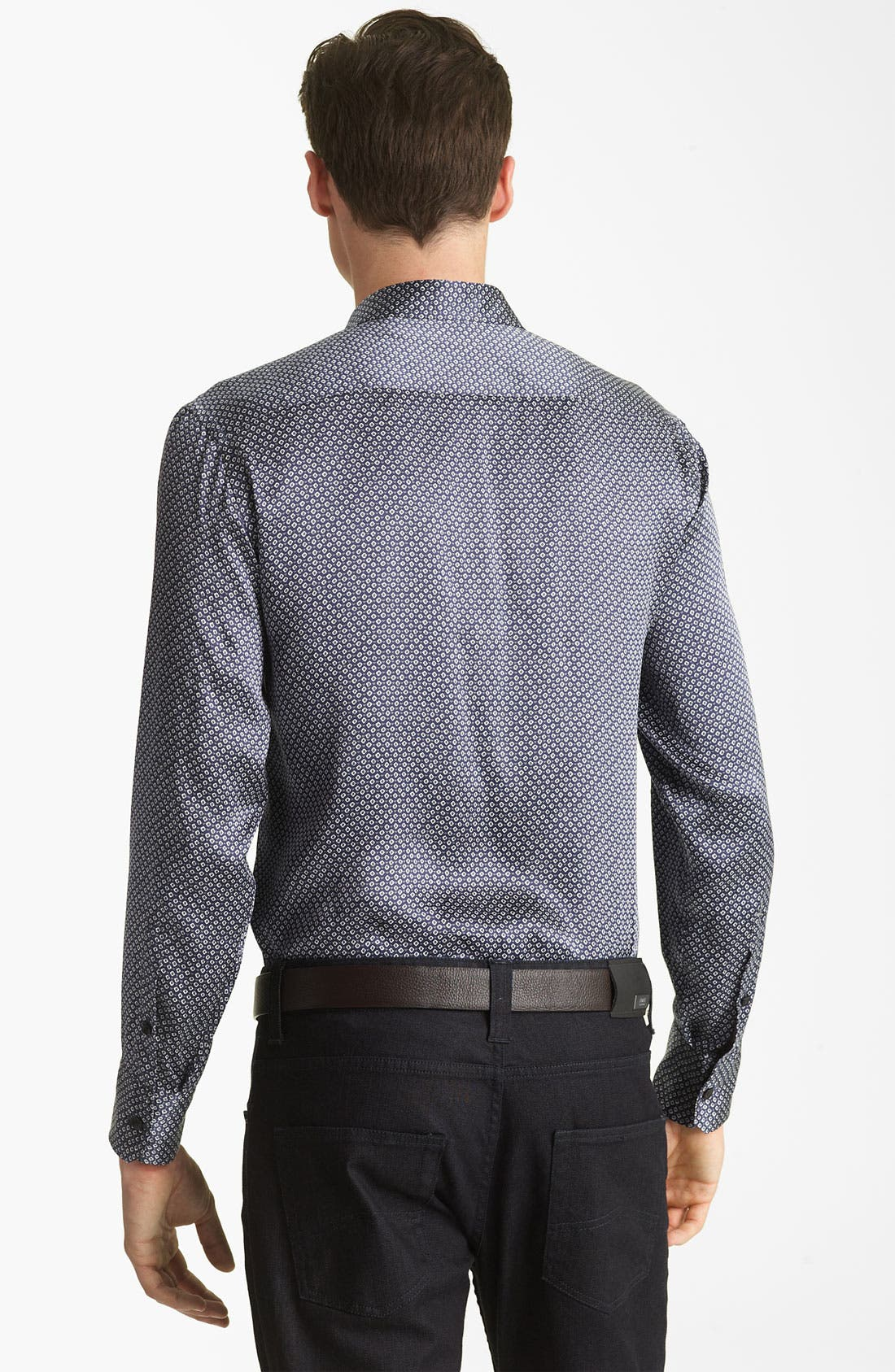 Alternate Image 2  - Armani Collezioni Silk Sport Shirt