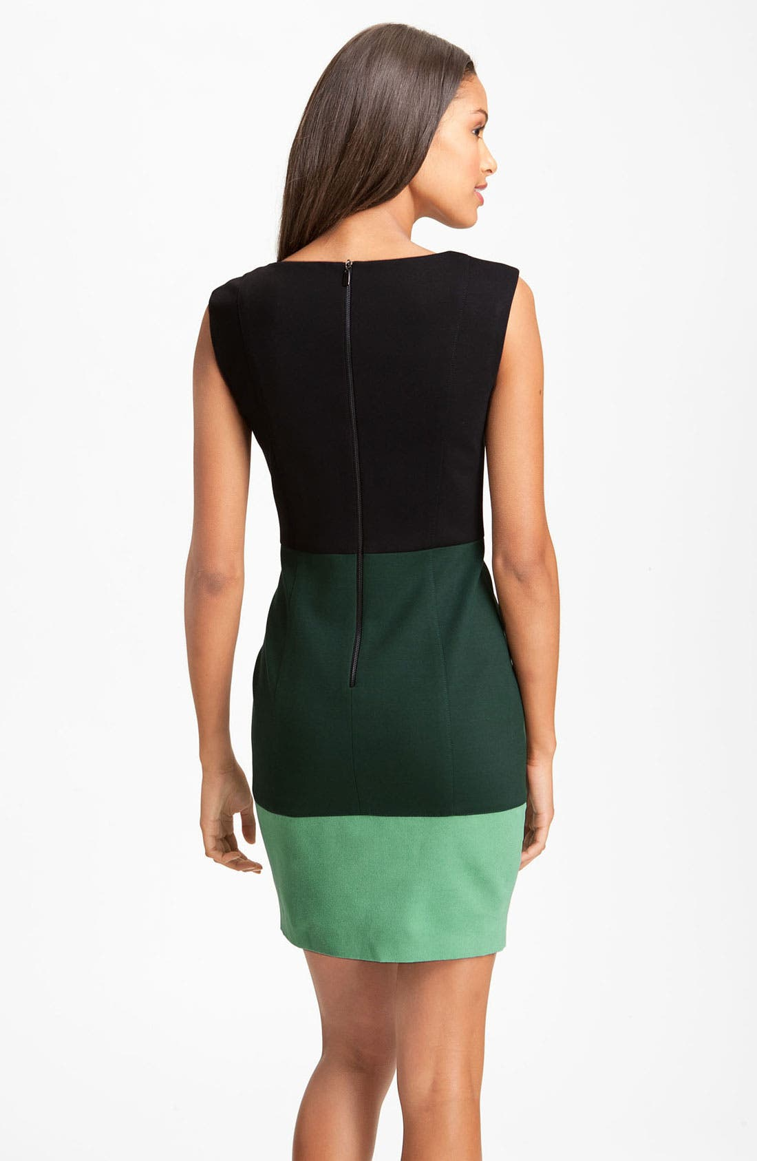 Alternate Image 2  - Laundry by Shelli Segal Colorblock Exposed Zipper Sheath Dress (Online Exclusive)