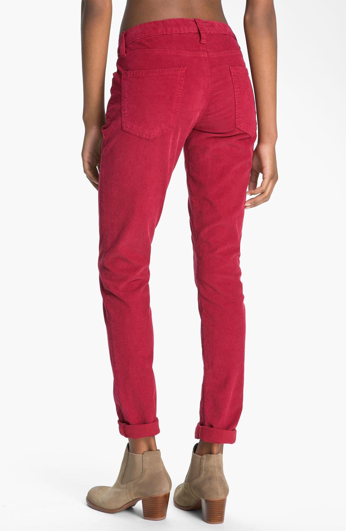 Alternate Image 2  - Current/Elliott 'The Skinny' Stretch Jeans (Vintage Crimson)