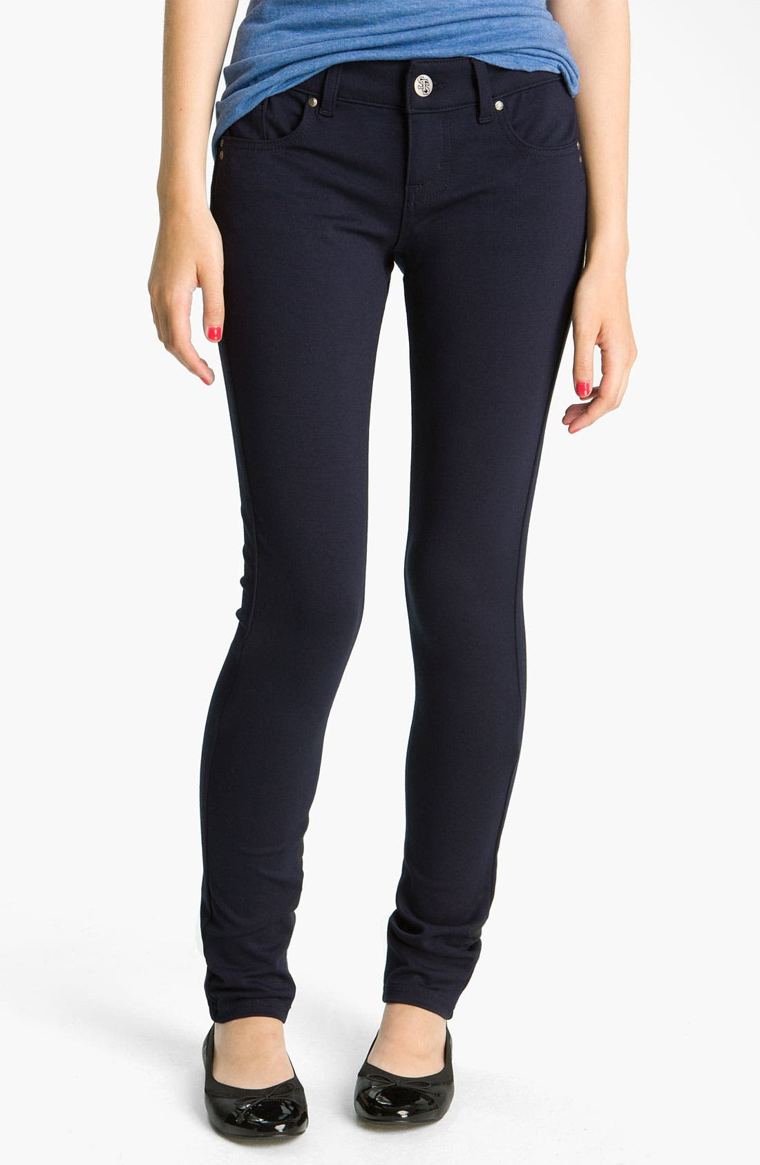 Alternate Image 1 Selected - See Thru Soul Skinny Ponte Pants (Juniors)